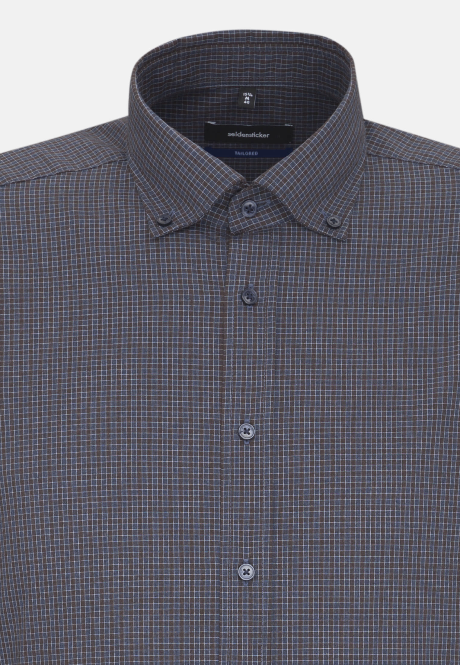 Easy-iron Poplin Business Shirt in Tailored with Button-Down-Collar in Brown |  Seidensticker Onlineshop