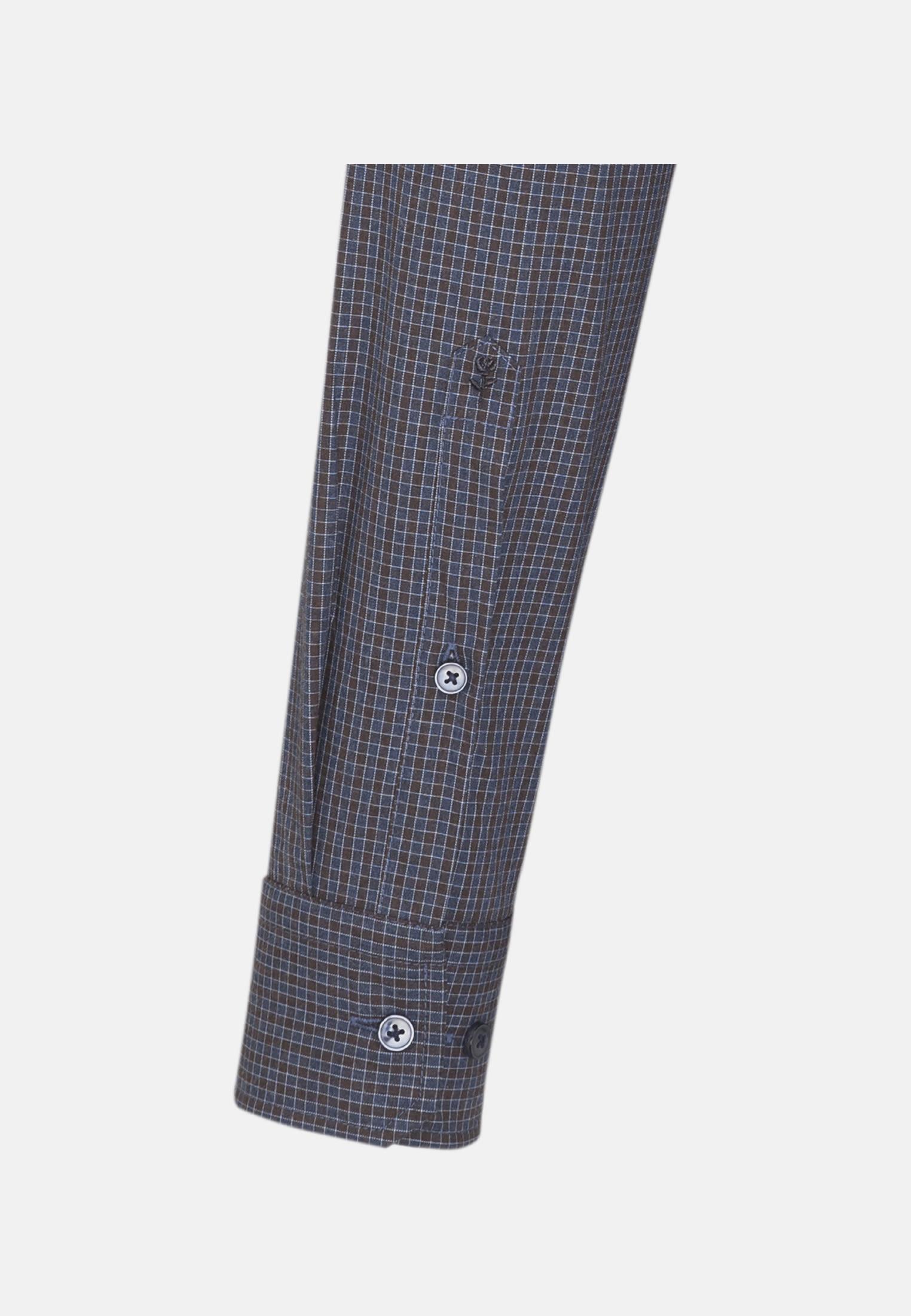 Easy-iron Poplin Business Shirt in Slim with Button-Down-Collar in Brown |  Seidensticker Onlineshop