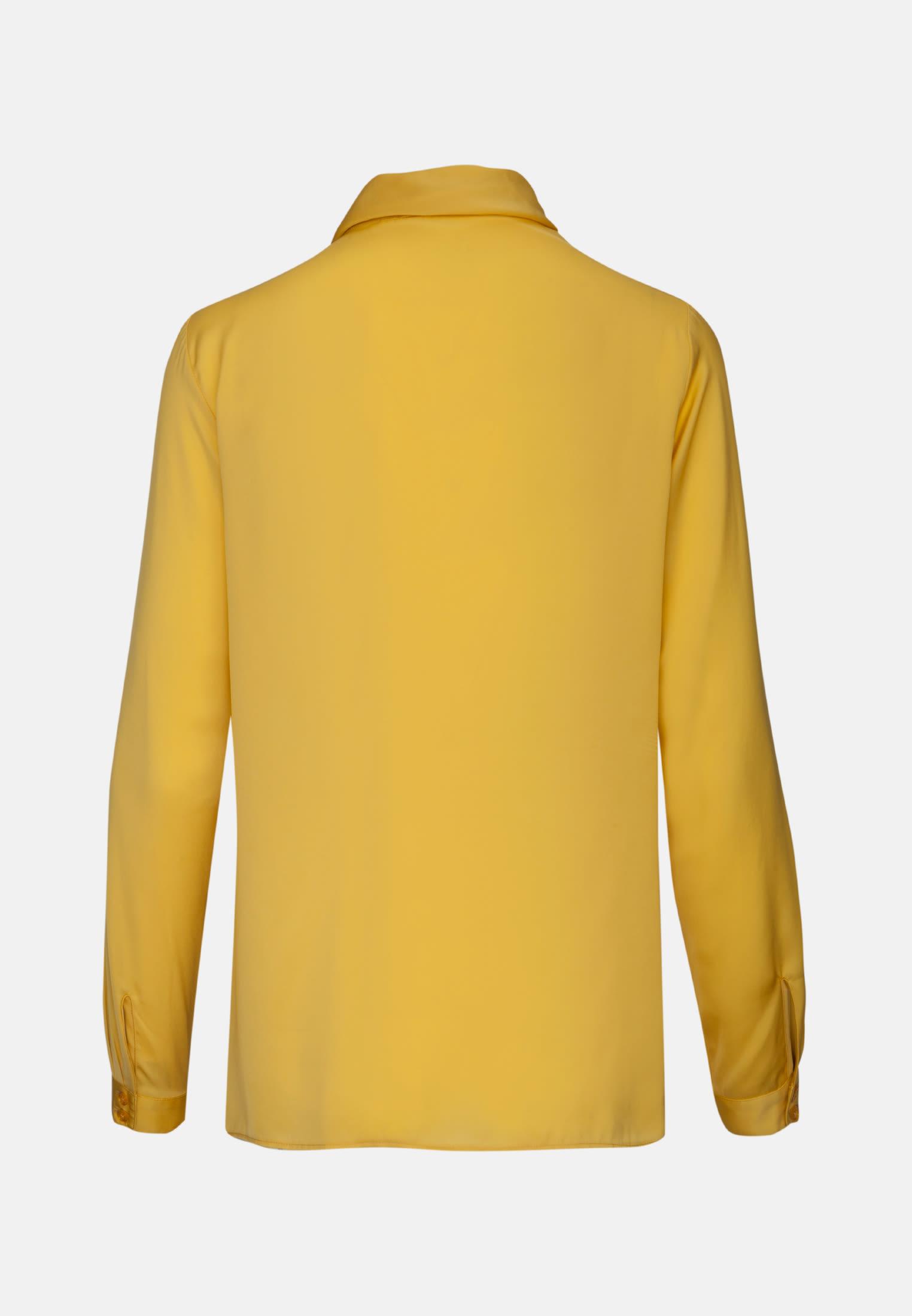Satin Schluppenbluse aus 100% Polyester in Gelb |  Seidensticker Onlineshop