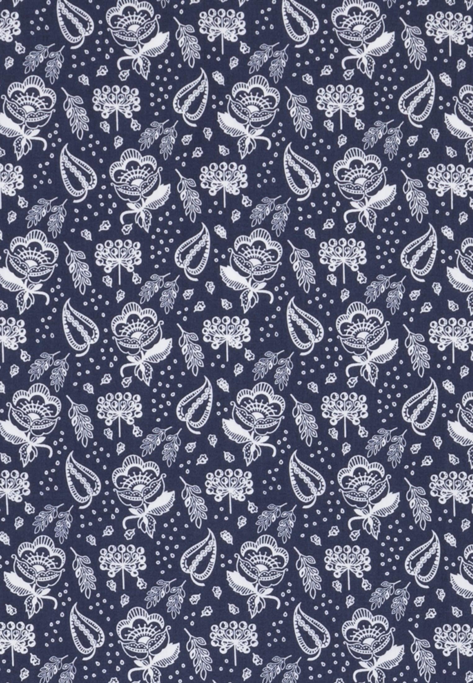 Bügelleichtes Popeline Business Hemd in Regular mit Button-Down-Kragen in Mittelblau |  Seidensticker Onlineshop