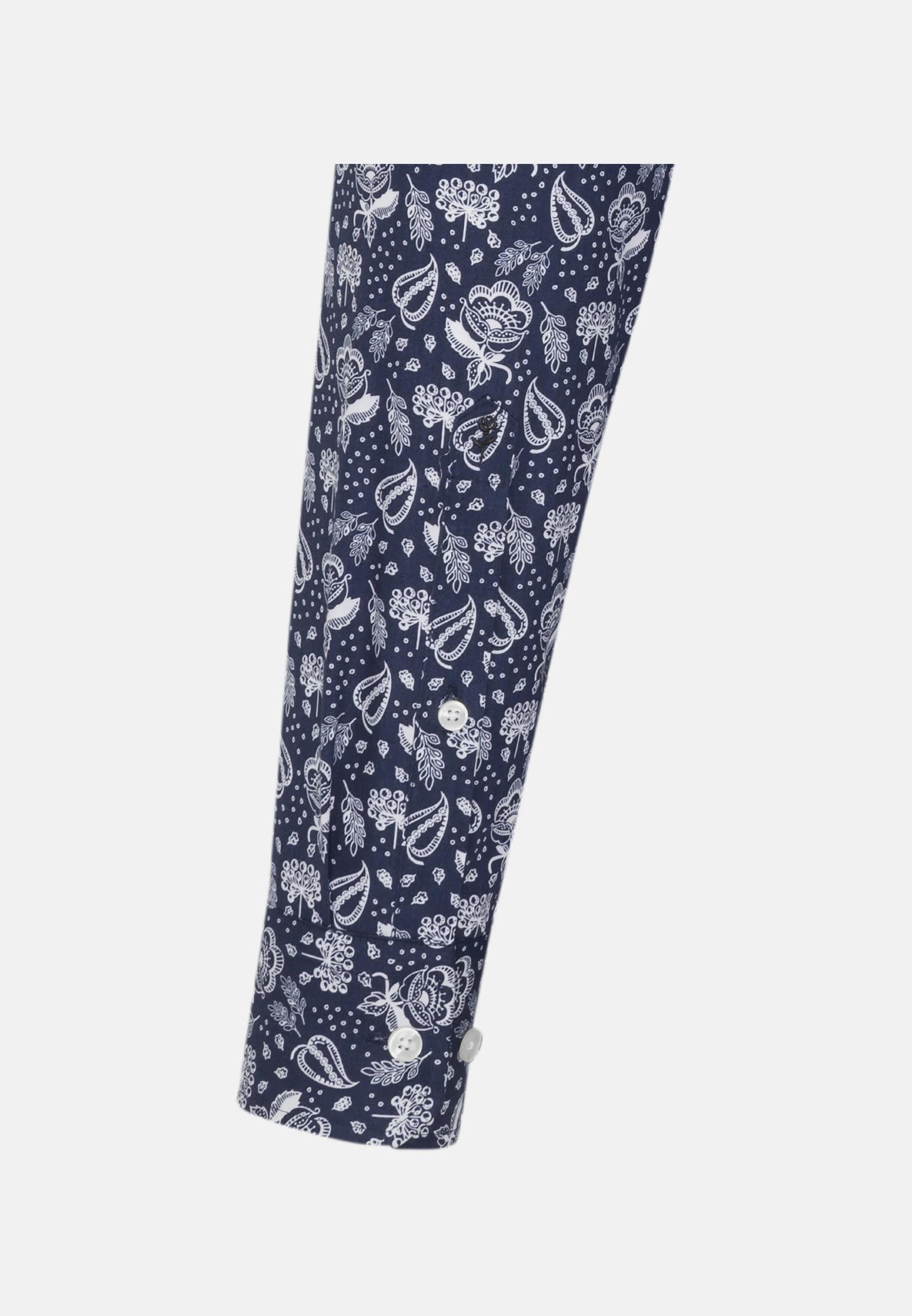 Easy-iron Poplin Business Shirt in Regular with Button-Down-Collar in Medium blue |  Seidensticker Onlineshop