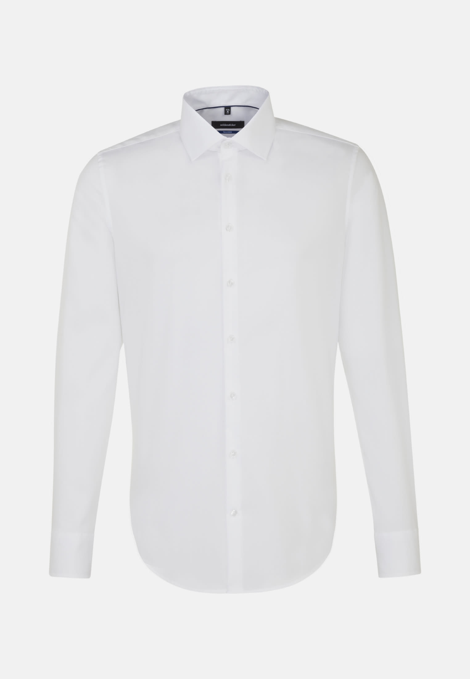 Non-iron Twill Business Shirt in Tailored with Kent-Collar in White |  Seidensticker Onlineshop
