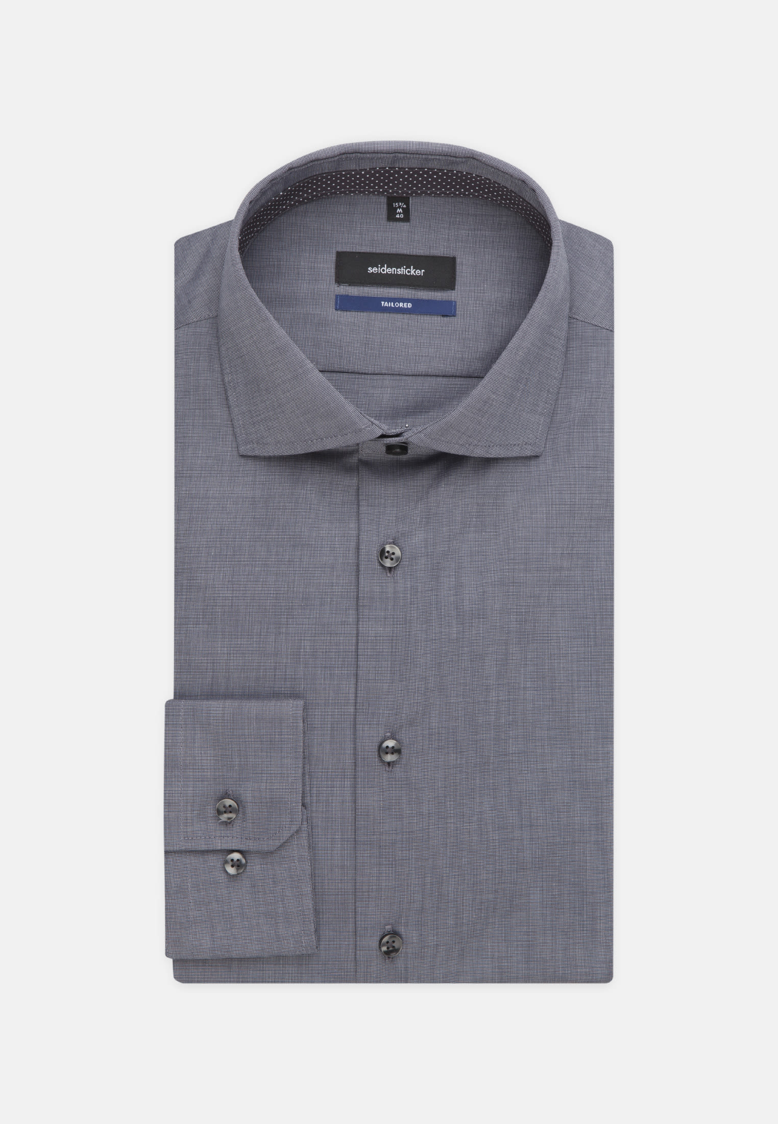 Non-iron Fil a fil Business Shirt in Shaped with Kent-Collar in Grey |  Seidensticker Onlineshop