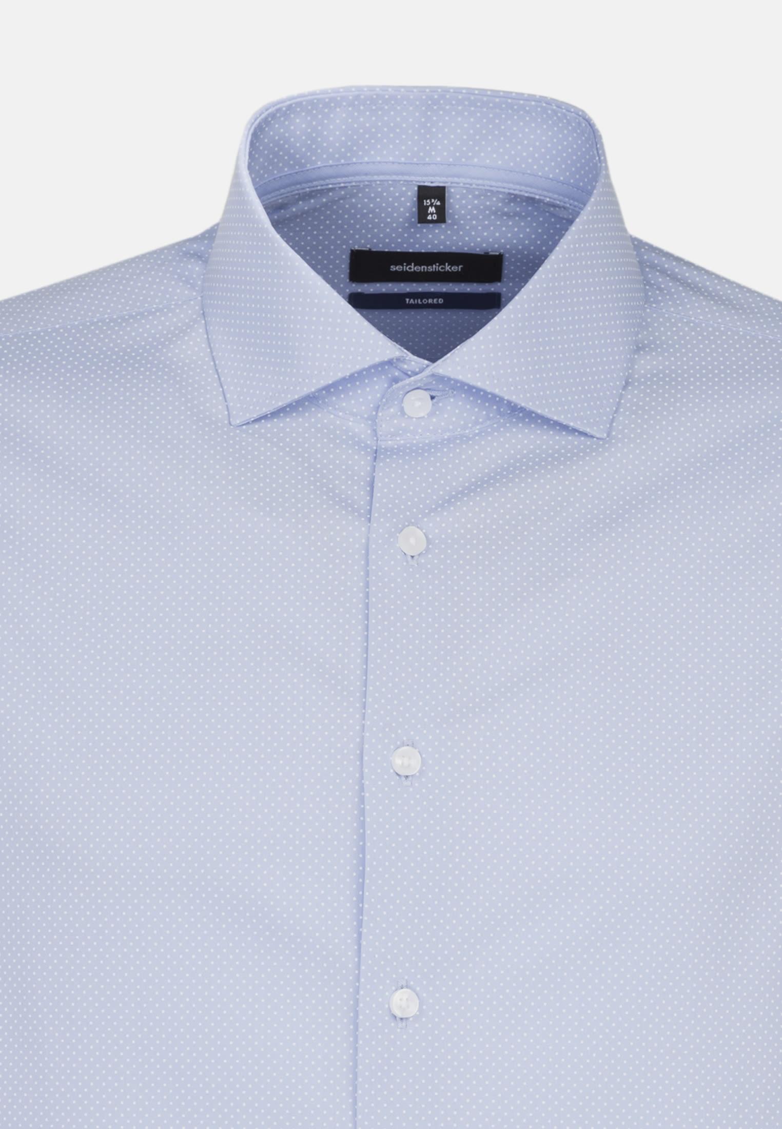 Easy-iron Poplin Business Shirt in Tailored with Kent-Collar in blau |  Seidensticker Onlineshop