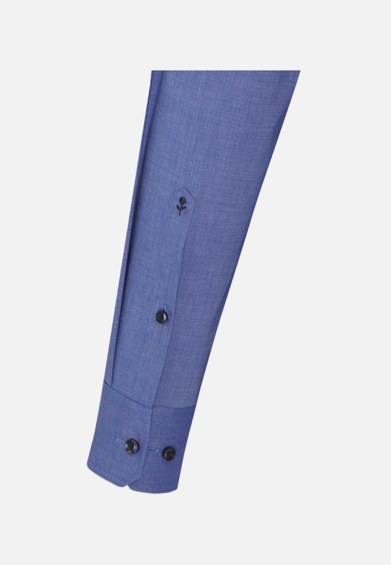 Non-iron Fil a fil Business Shirt in Slim with Kent-Collar and extra long sleeve in Medium blue    Seidensticker Onlineshop