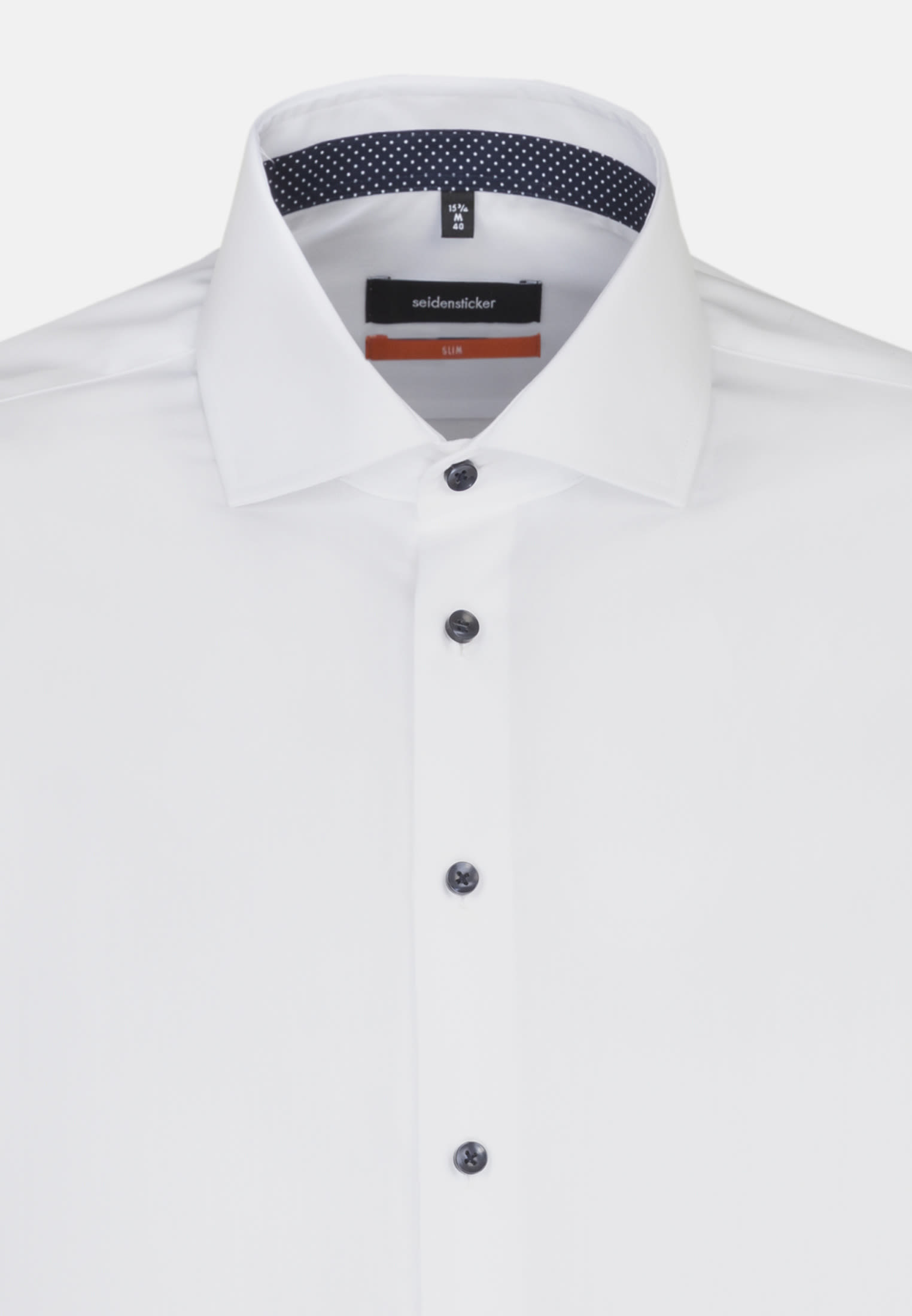 Non-iron Fil a fil Business Shirt in Slim with Kent-Collar and extra long arm in White |  Seidensticker Onlineshop