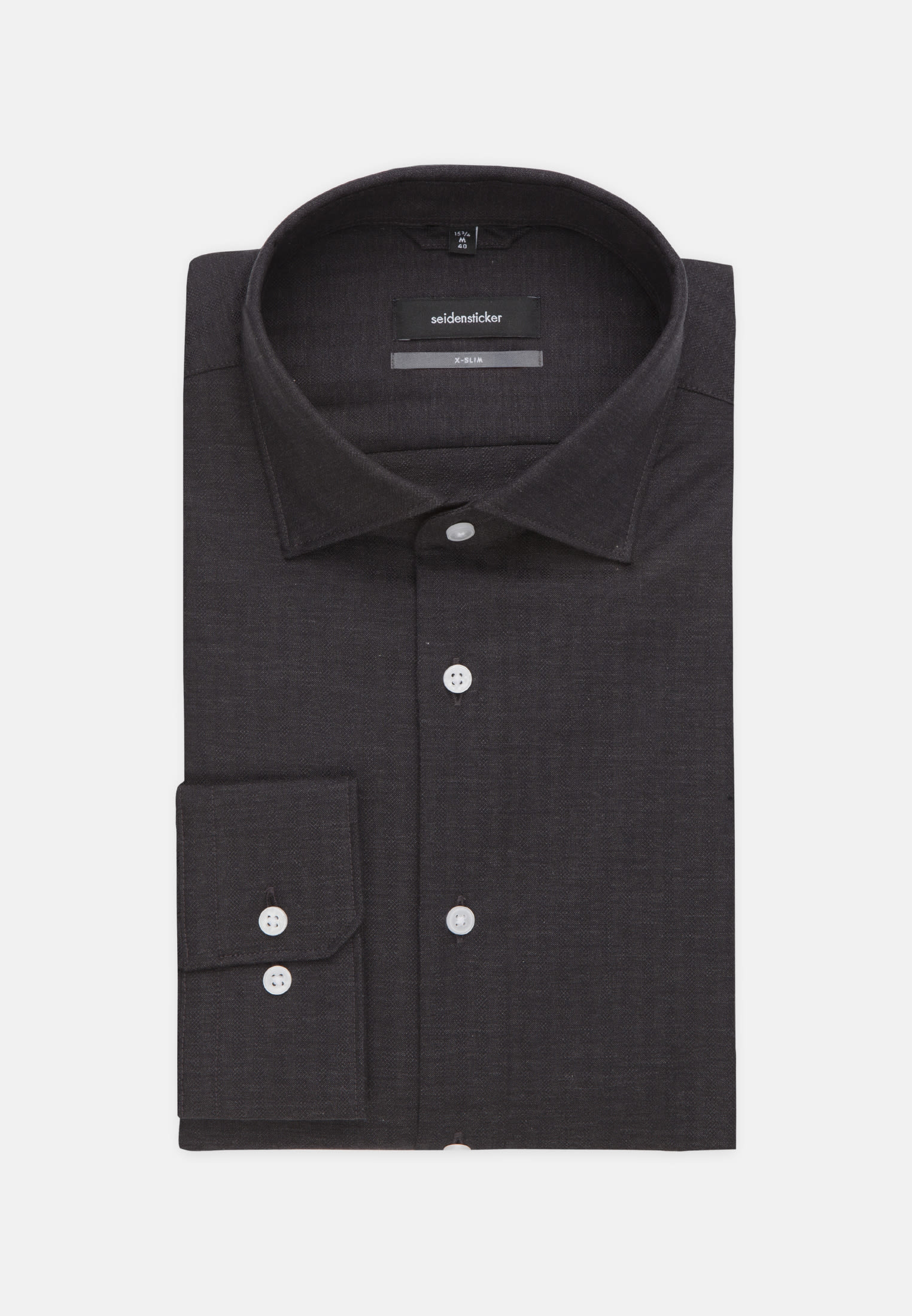 Easy-iron Structure Business Shirt in X-Slim with Kent-Collar in Grey |  Seidensticker Onlineshop