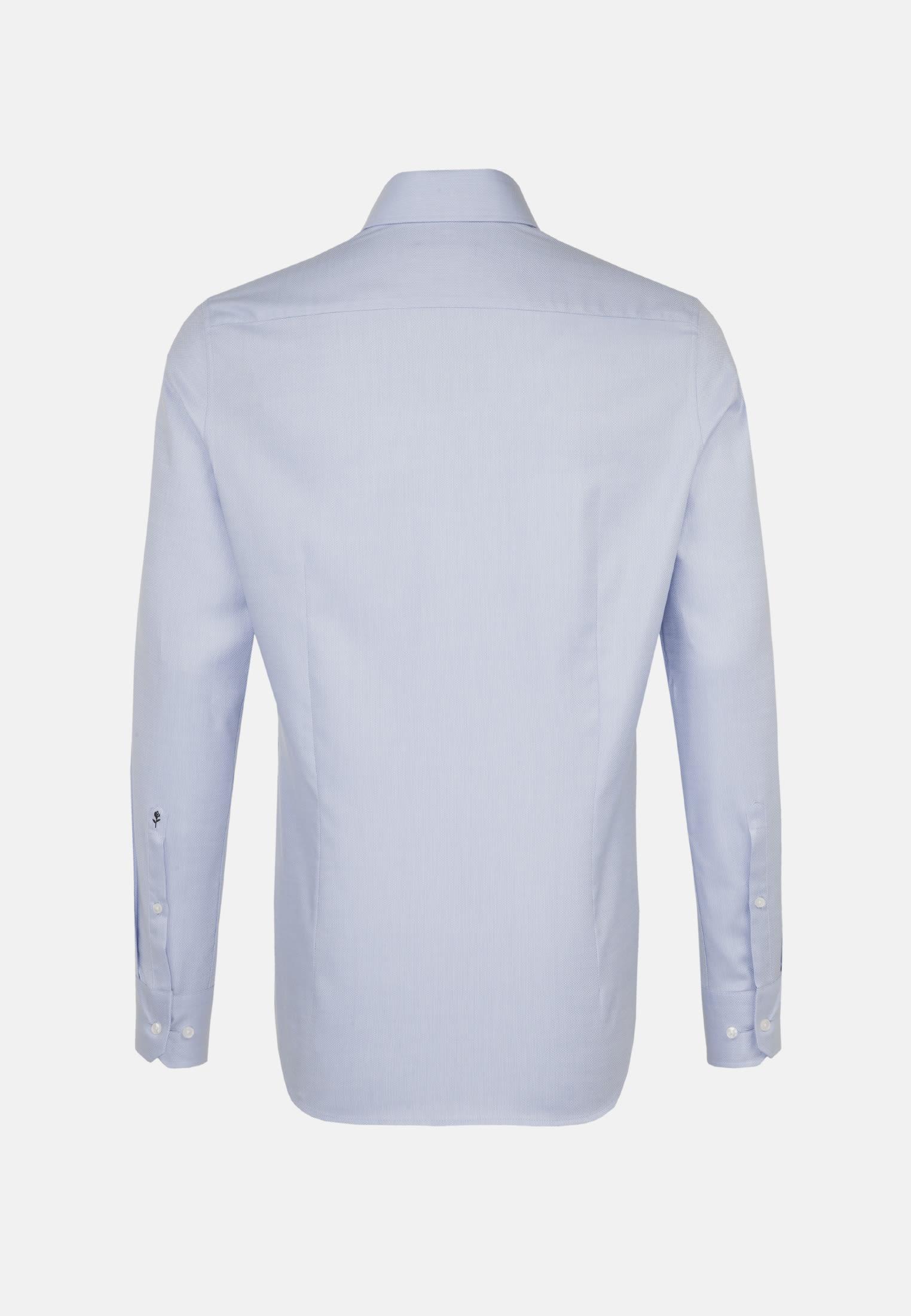 Bügelleichtes Struktur Business Hemd in Slim mit Haifischkragen in Hellblau |  Seidensticker Onlineshop