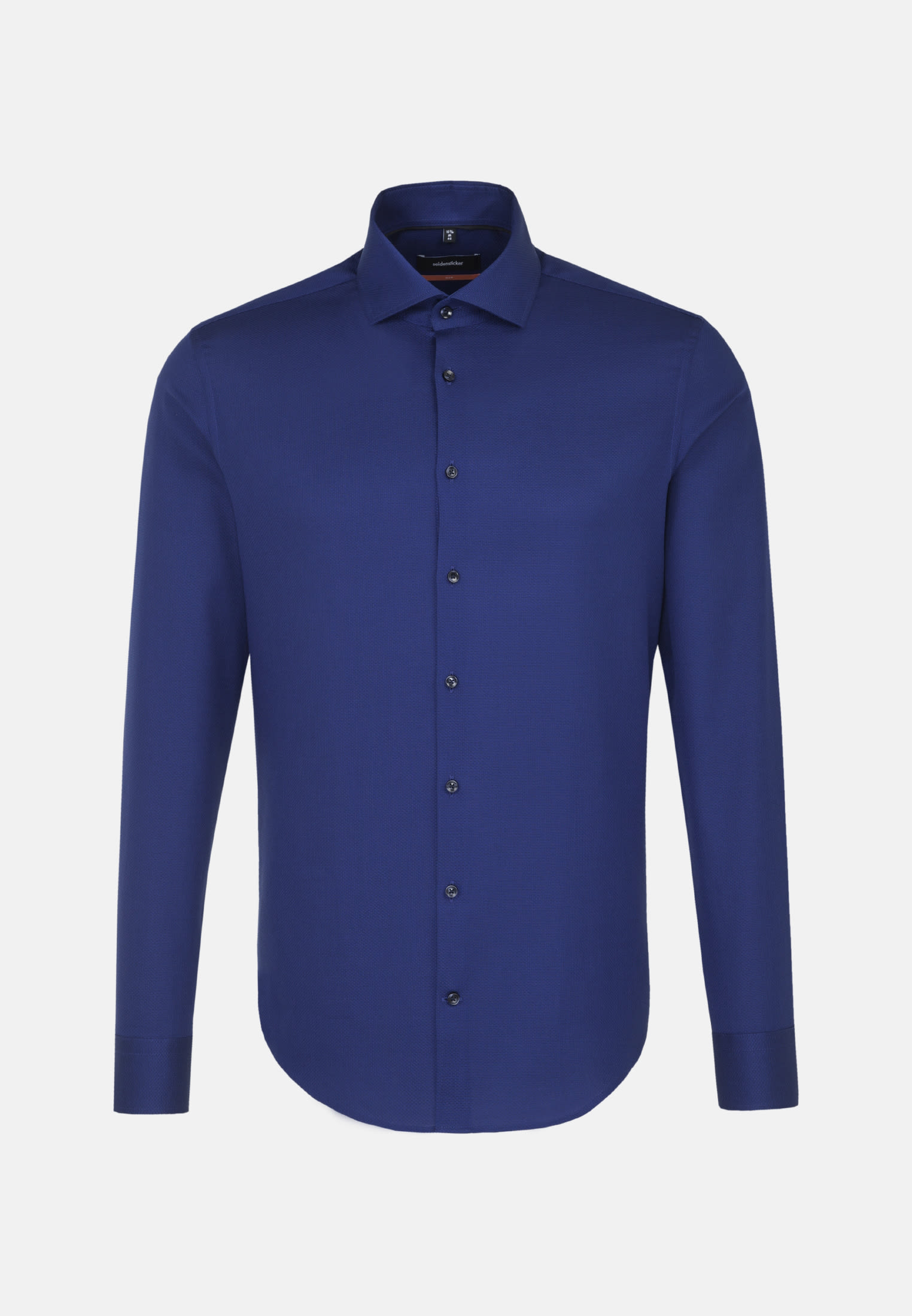 Easy-iron Structure Business Shirt in Slim with Kent-Collar in Medium blue |  Seidensticker Onlineshop