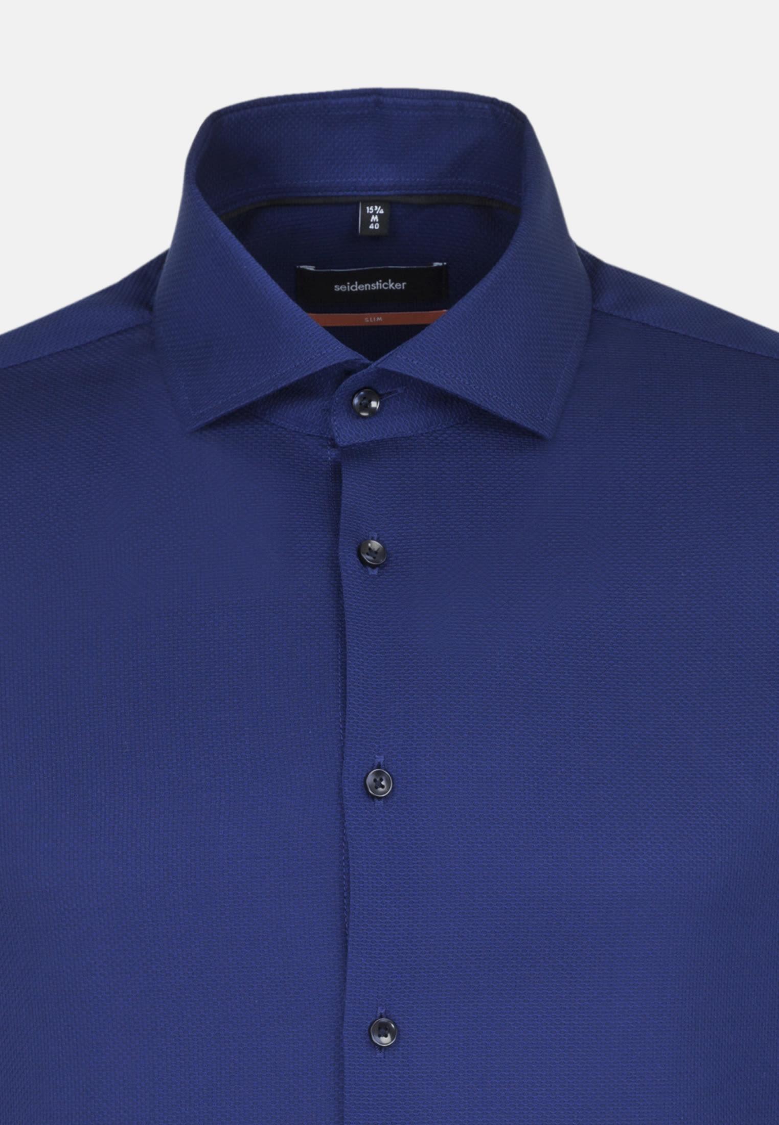 Easy-iron Structure Business Shirt in Slim with Kent-Collar in blau |  Seidensticker Onlineshop