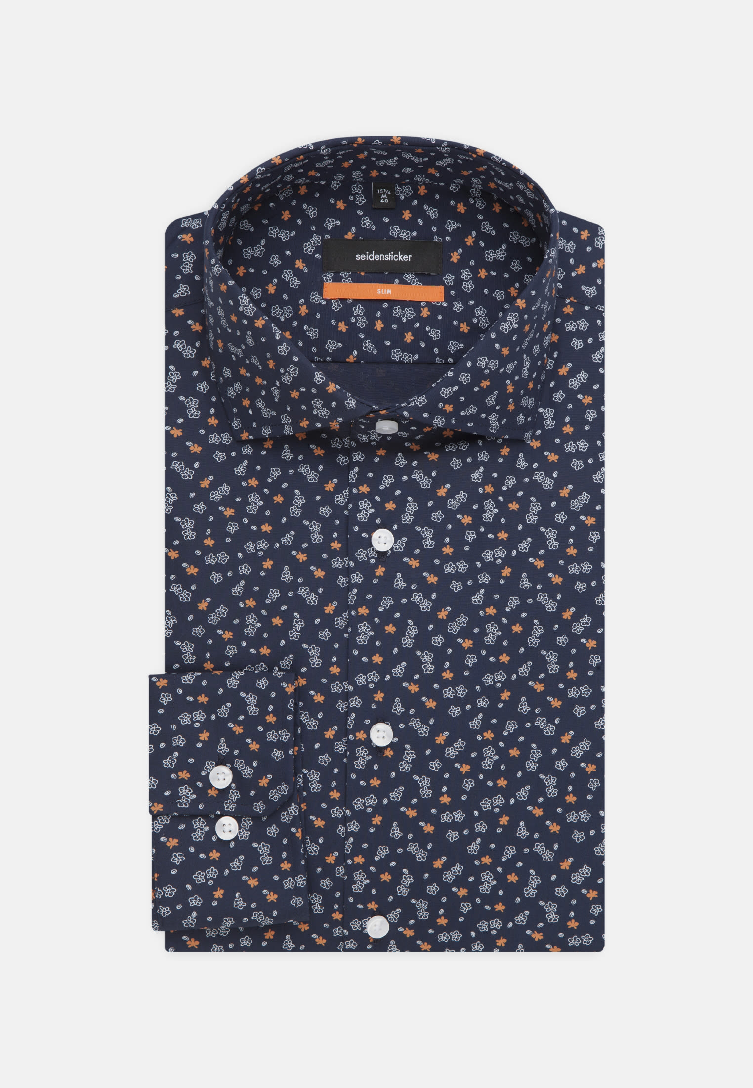 Easy-iron Poplin Business Shirt in Slim with Kent-Collar in Orange |  Seidensticker Onlineshop