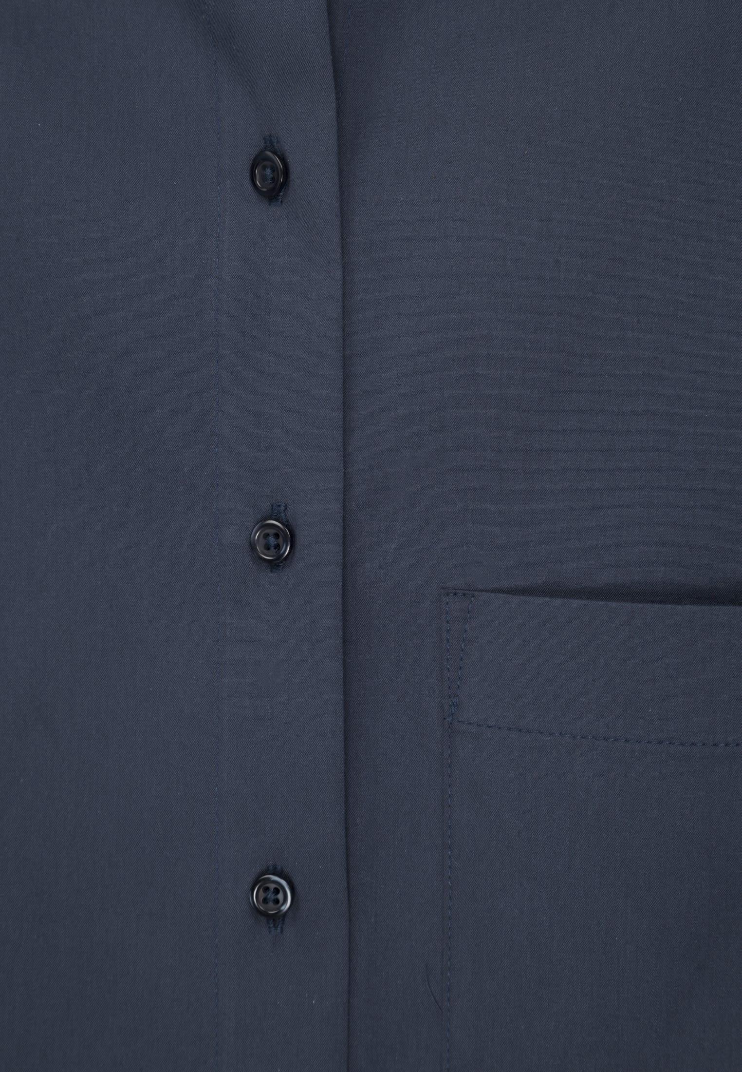Popeline Hemdbluse aus 81% Baumwolle 16% Polyamid/Nylon 3% Elastan in Dunkelblau    Seidensticker Onlineshop