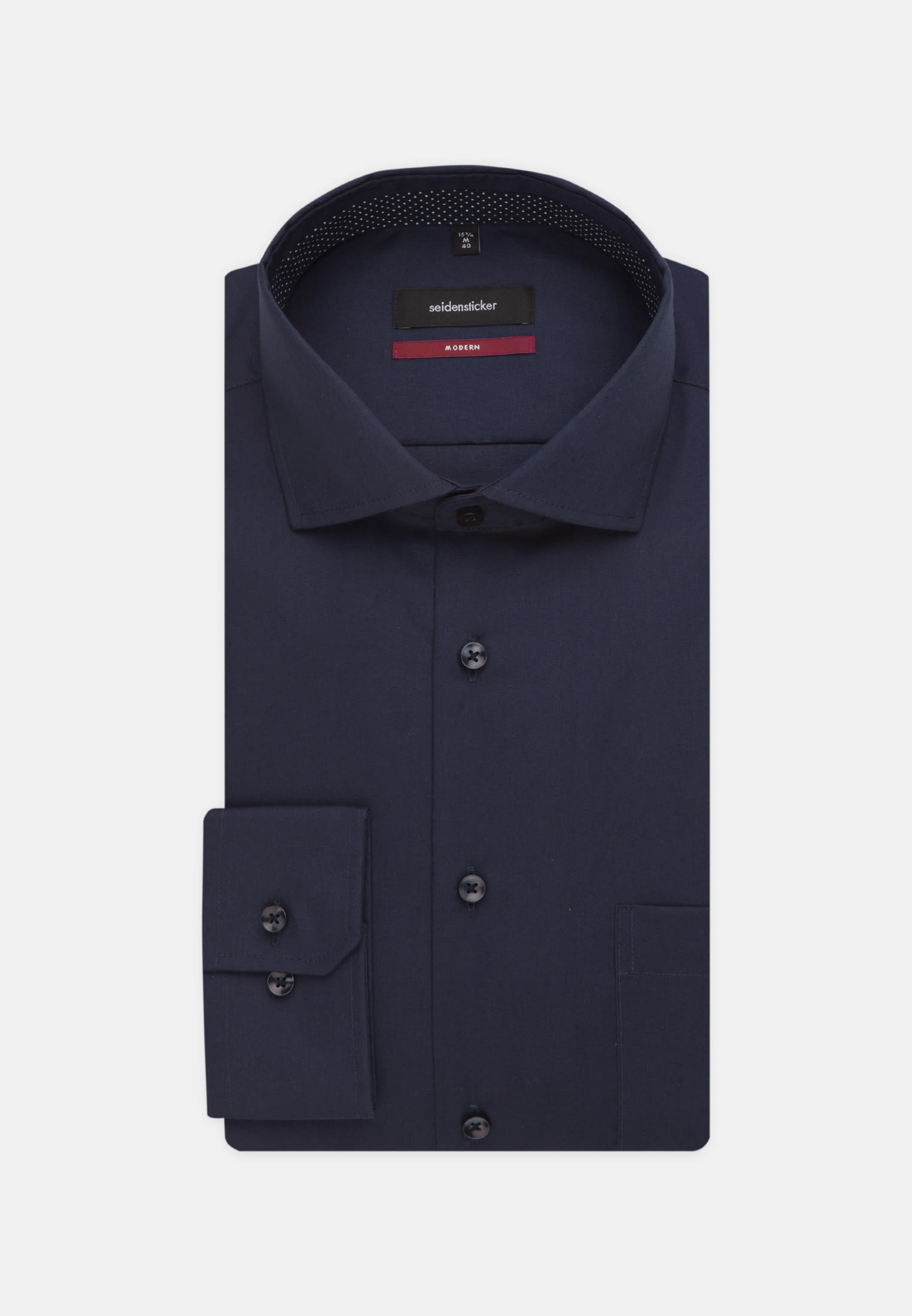 Non-iron Fil a fil Business Shirt in Regular with Kent-Collar and extra long sleeve in Dark blue |  Seidensticker Onlineshop