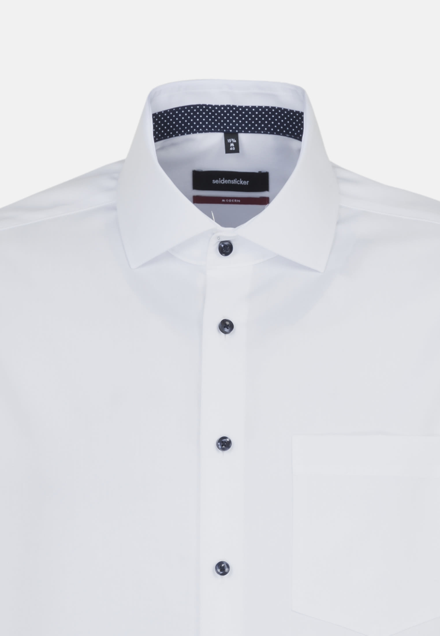 Non-iron Fil a fil Business Shirt in Regular with Kent-Collar and extra long sleeve in White |  Seidensticker Onlineshop