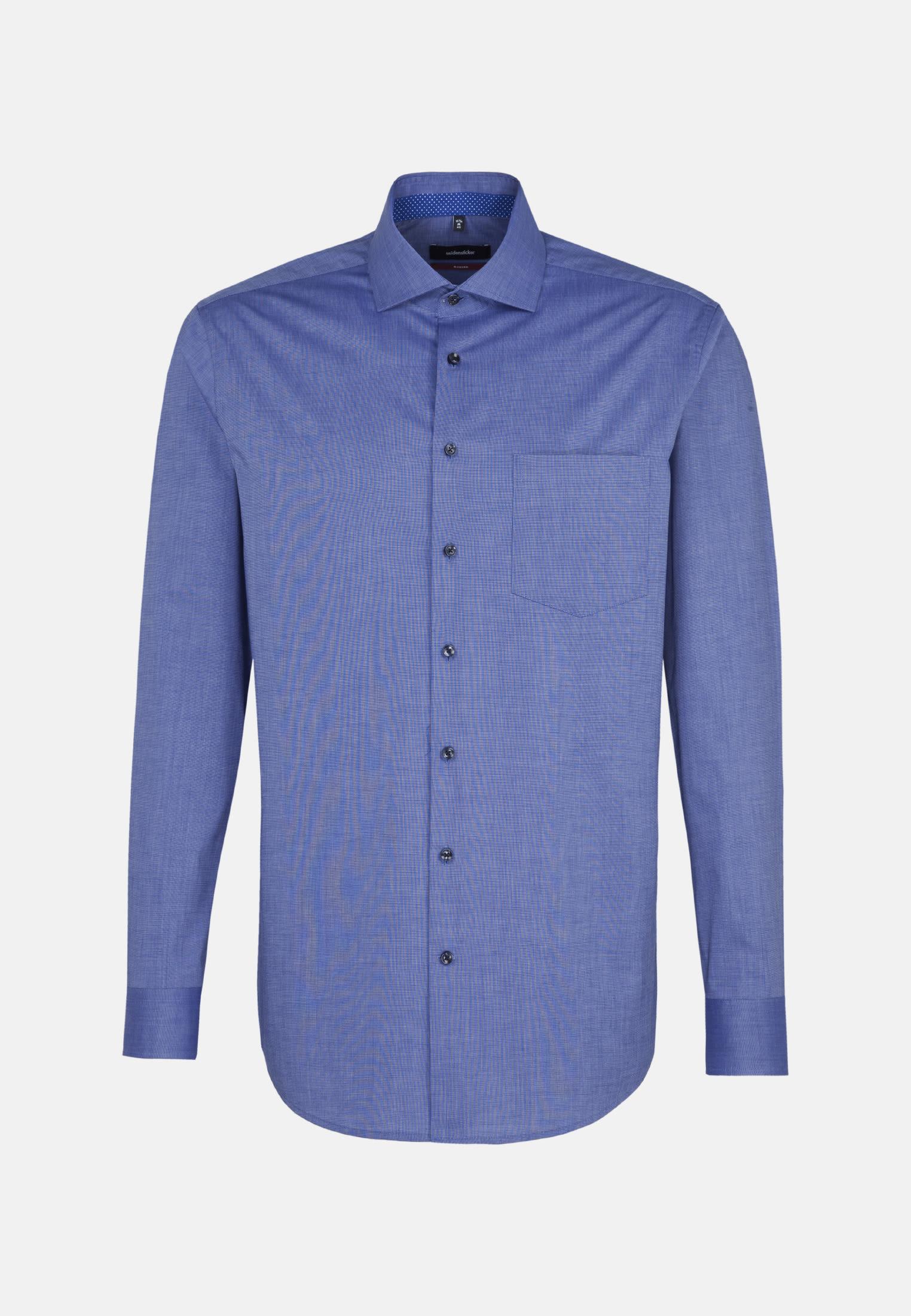 Bügelfreies Fil a fil Business Hemd in Modern mit Kentkragen in Mittelblau |  Seidensticker Onlineshop