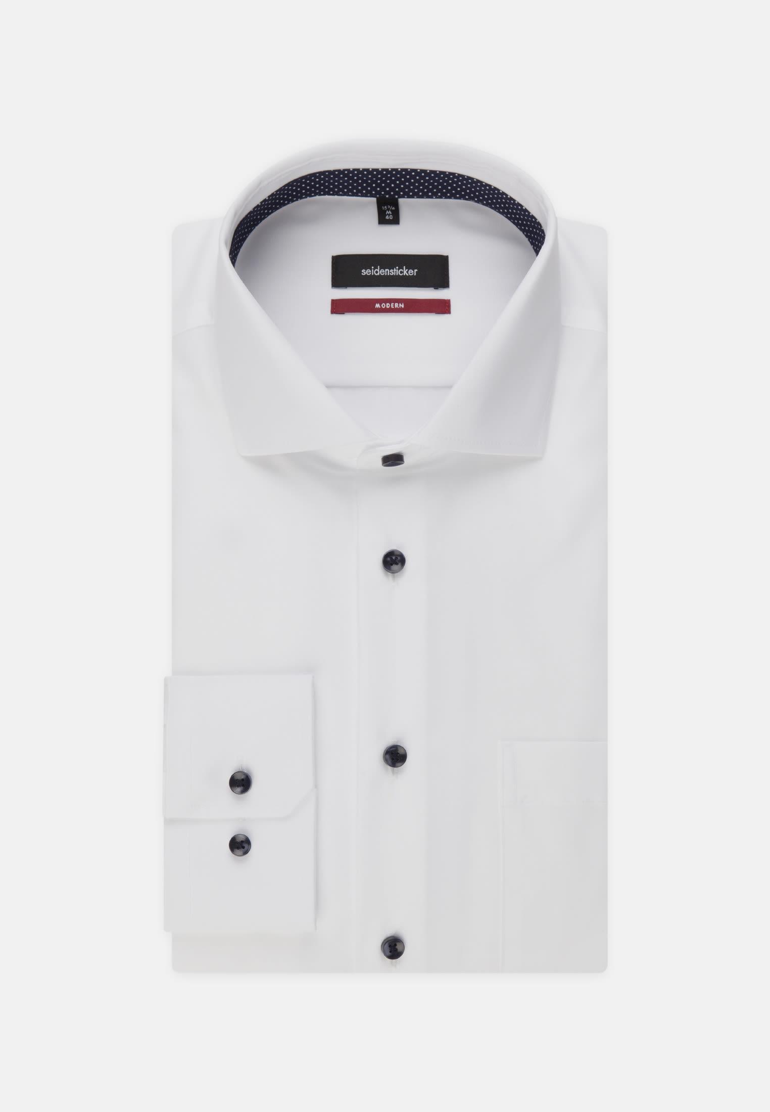 Non-iron Fil a fil Business Shirt in Modern with Kent-Collar in weiß |  Seidensticker Onlineshop