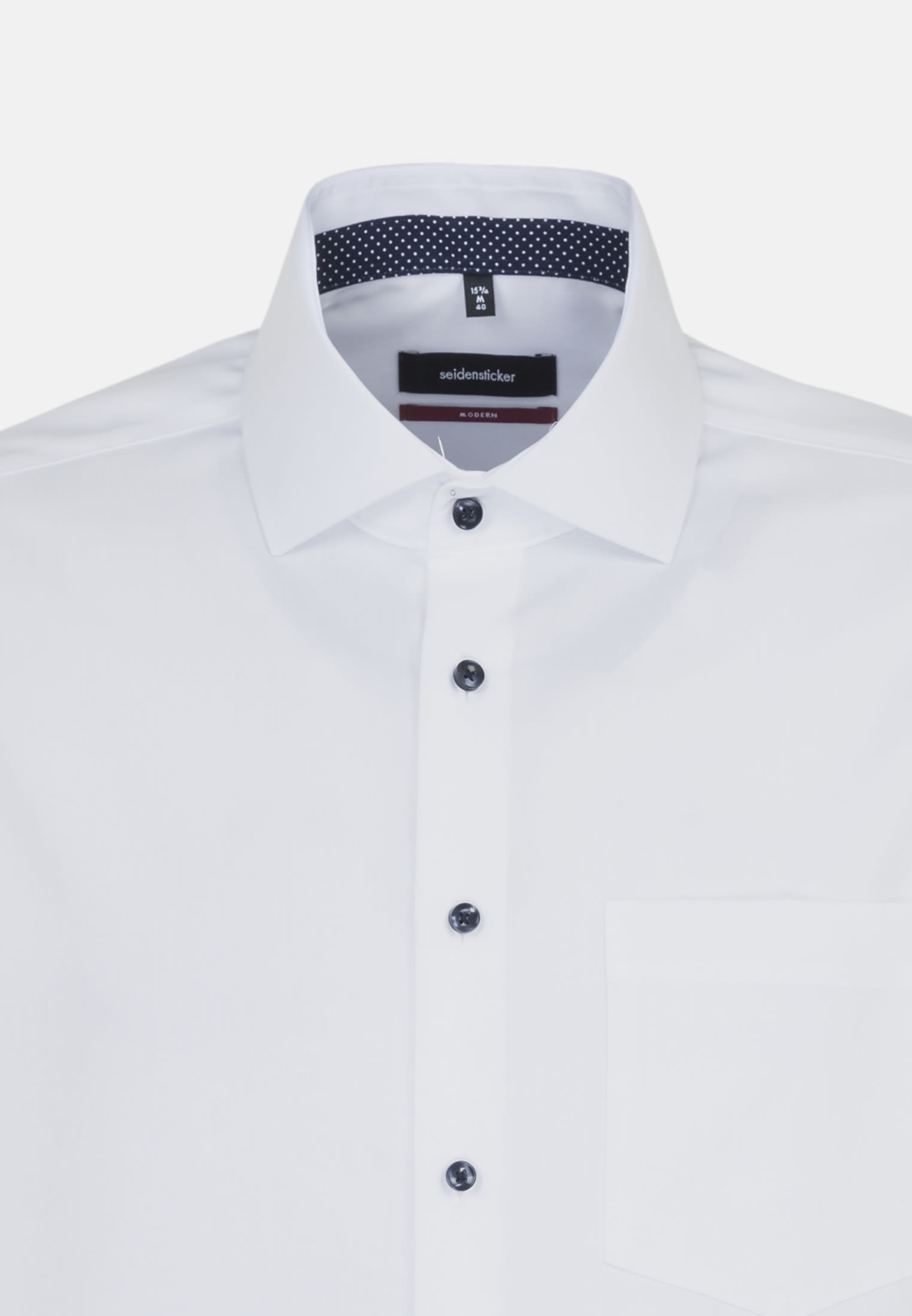 Non-iron Fil a fil Business Shirt in Modern with Kent-Collar in White |  Seidensticker Onlineshop