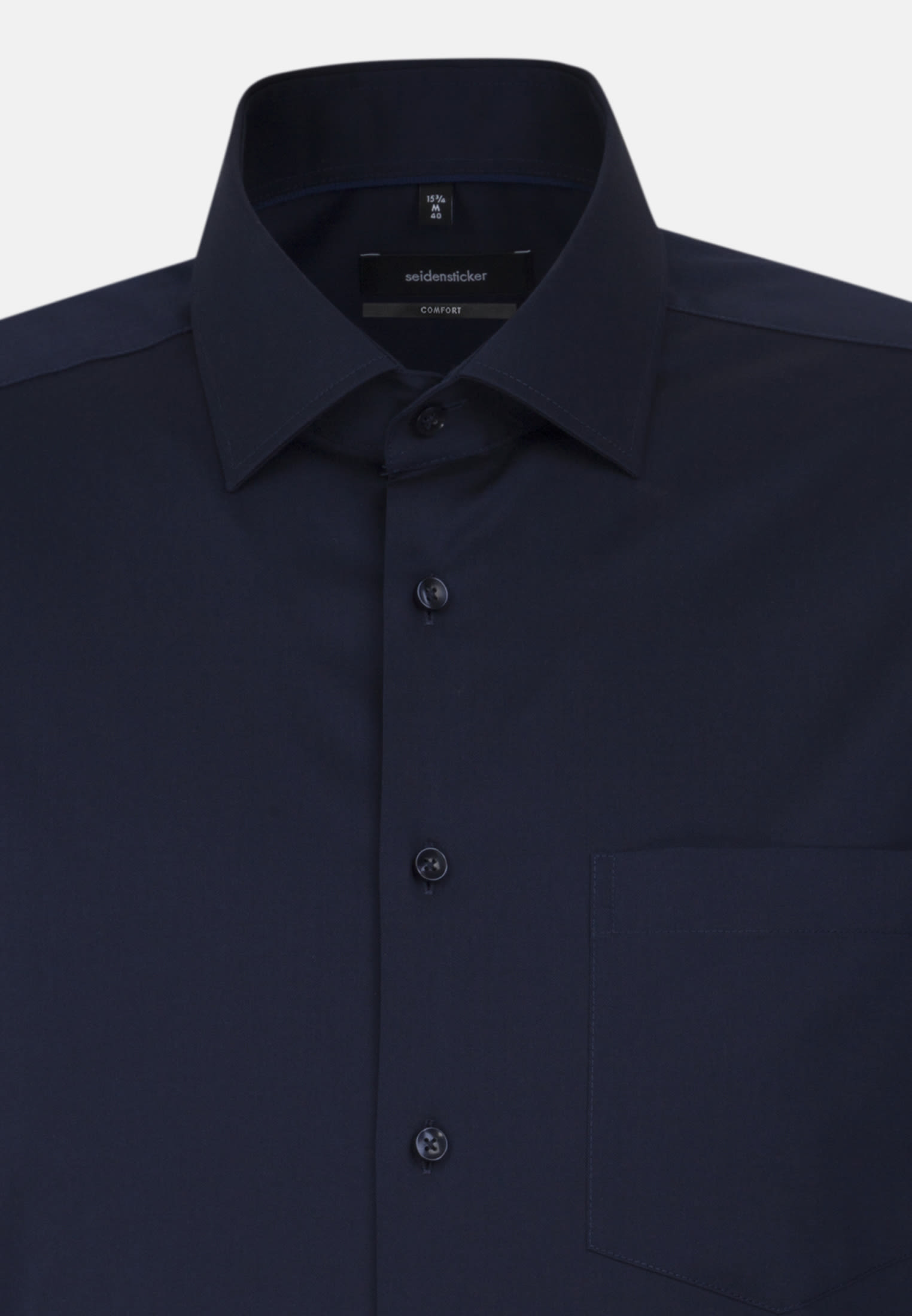 Non-iron Twill Business Shirt in Comfort with Kent-Collar and extra long arm in Dark blue |  Seidensticker Onlineshop