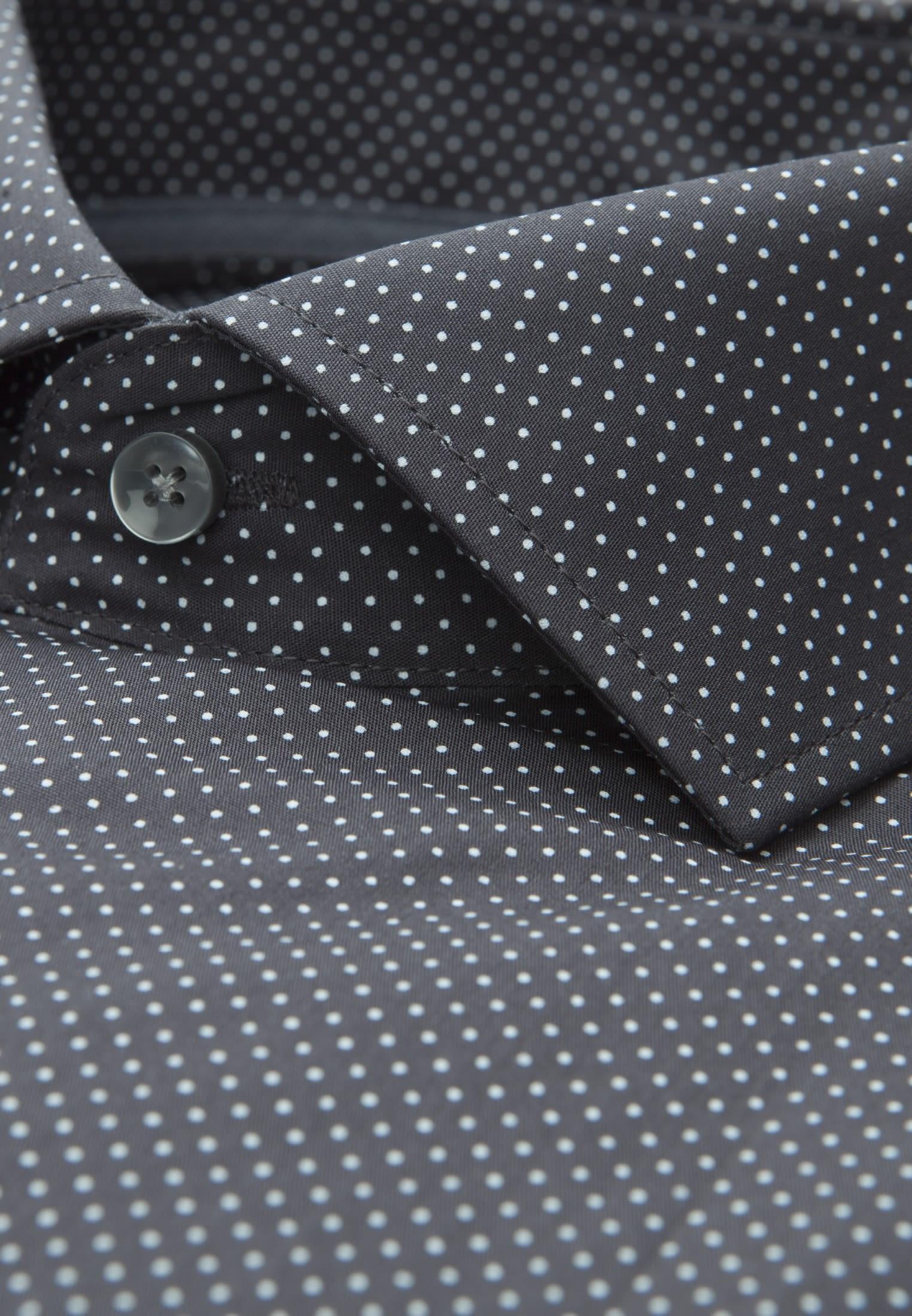 Bügelleichtes Popeline Business Hemd in Slim mit Kentkragen und extra langem Arm in Grau    Seidensticker Onlineshop