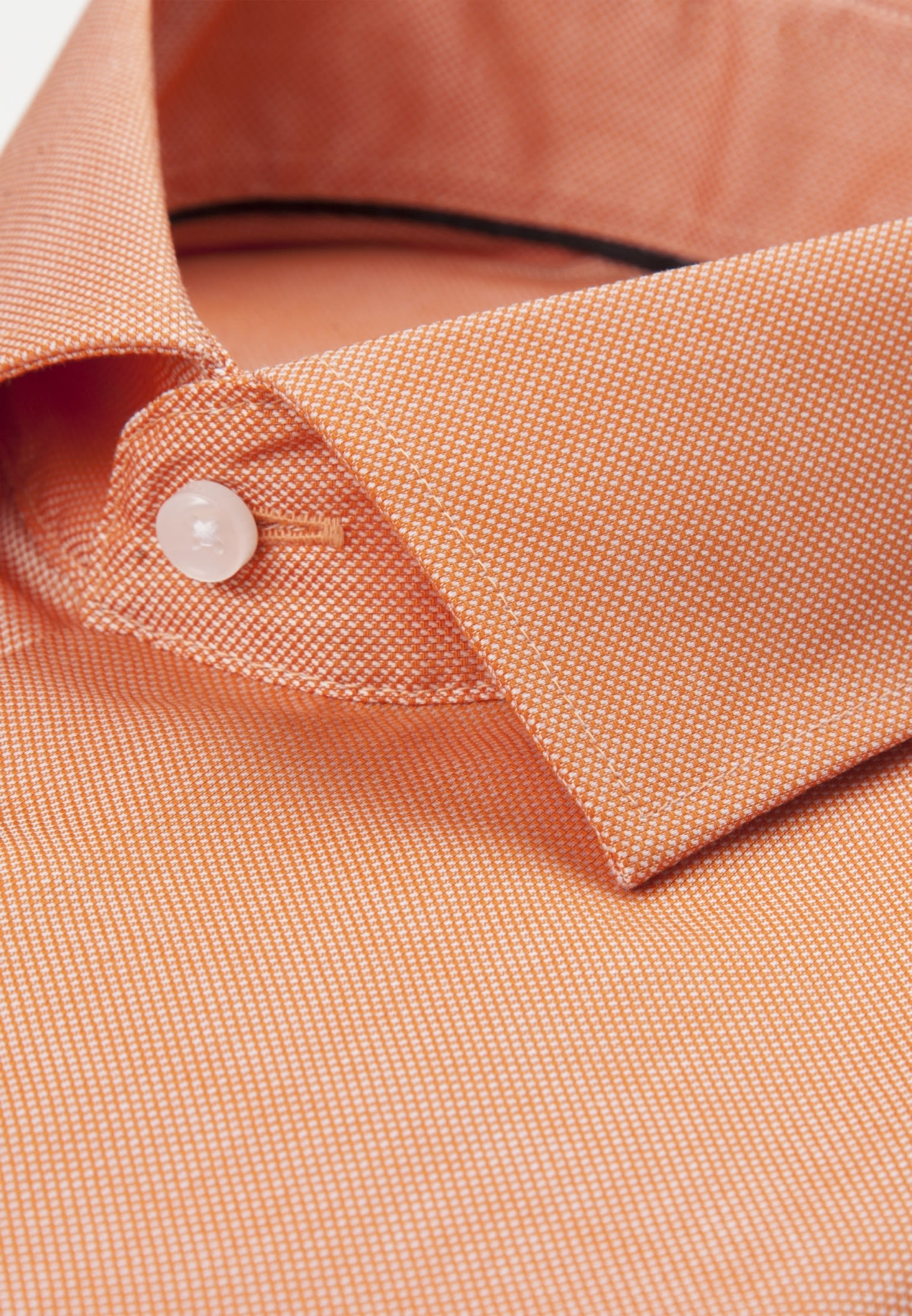 Bügelfreies Struktur Business Hemd in Shaped mit Kentkragen in Orange |  Seidensticker Onlineshop