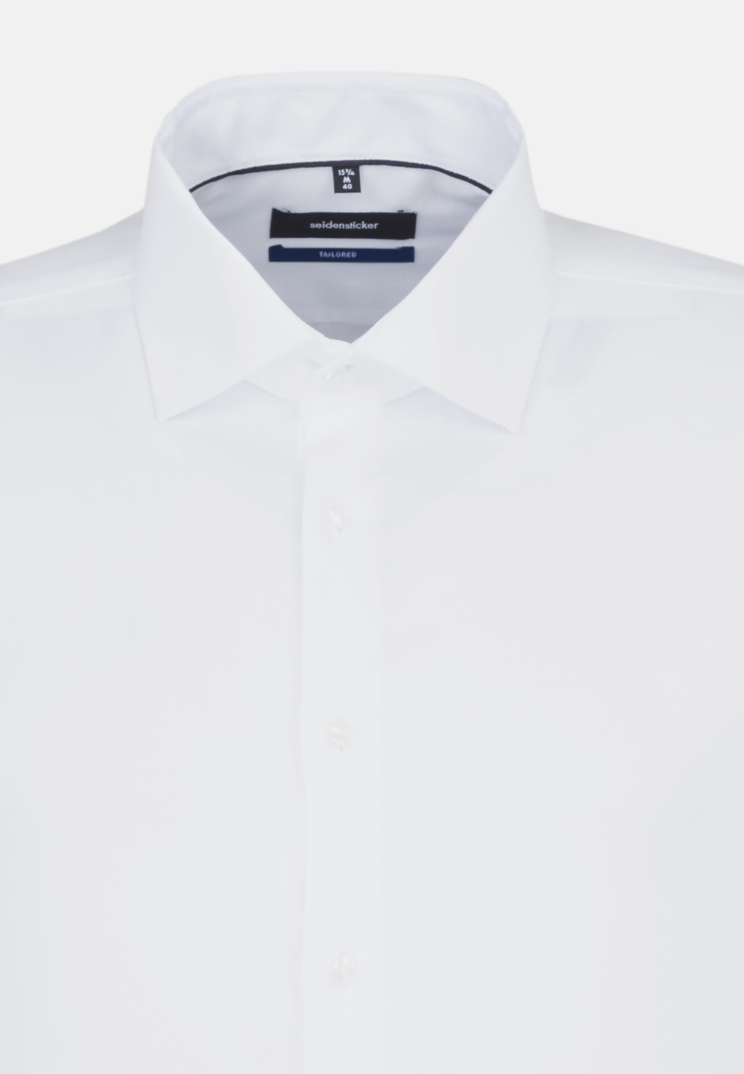 Non-iron Structure Business Shirt in Tailored with Kent-Collar and extra long arm in weiß |  Seidensticker Onlineshop