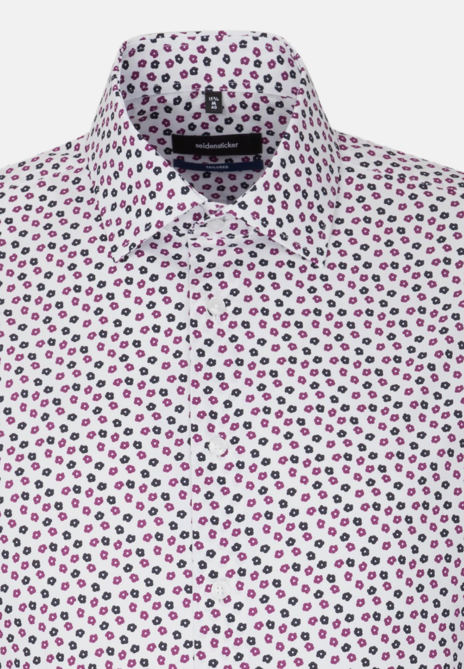 Bügelleichtes Popeline Business Hemd in Shaped mit Kentkragen in Lila |  Seidensticker Onlineshop