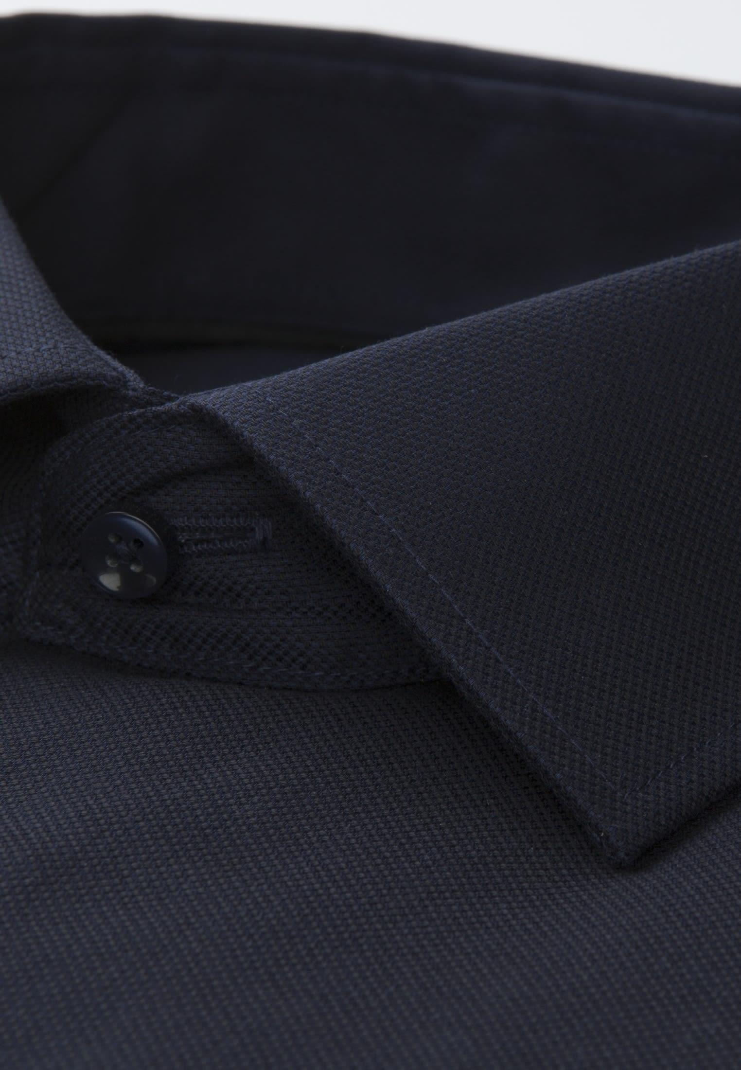 Bügelfreies Struktur Business Hemd in X-Slim mit Kentkragen in Dunkelblau |  Seidensticker Onlineshop