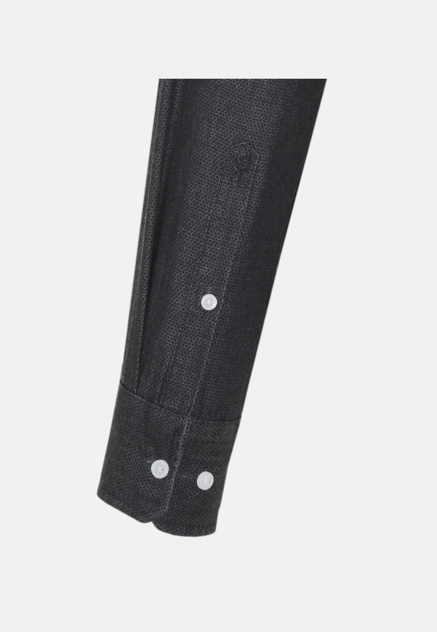 Easy-iron Denim Business Shirt in X-Slim with Button-Down-Collar in Black |  Seidensticker Onlineshop