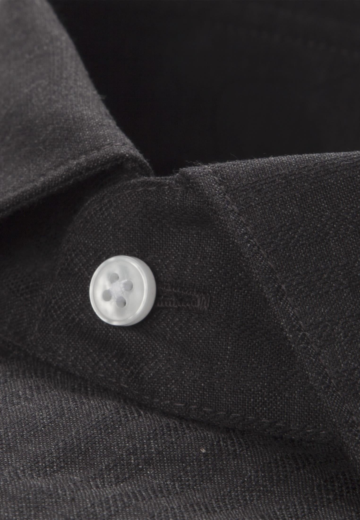 Bügelleichtes Struktur Business Hemd in Modern mit Kentkragen in Grau    Seidensticker Onlineshop