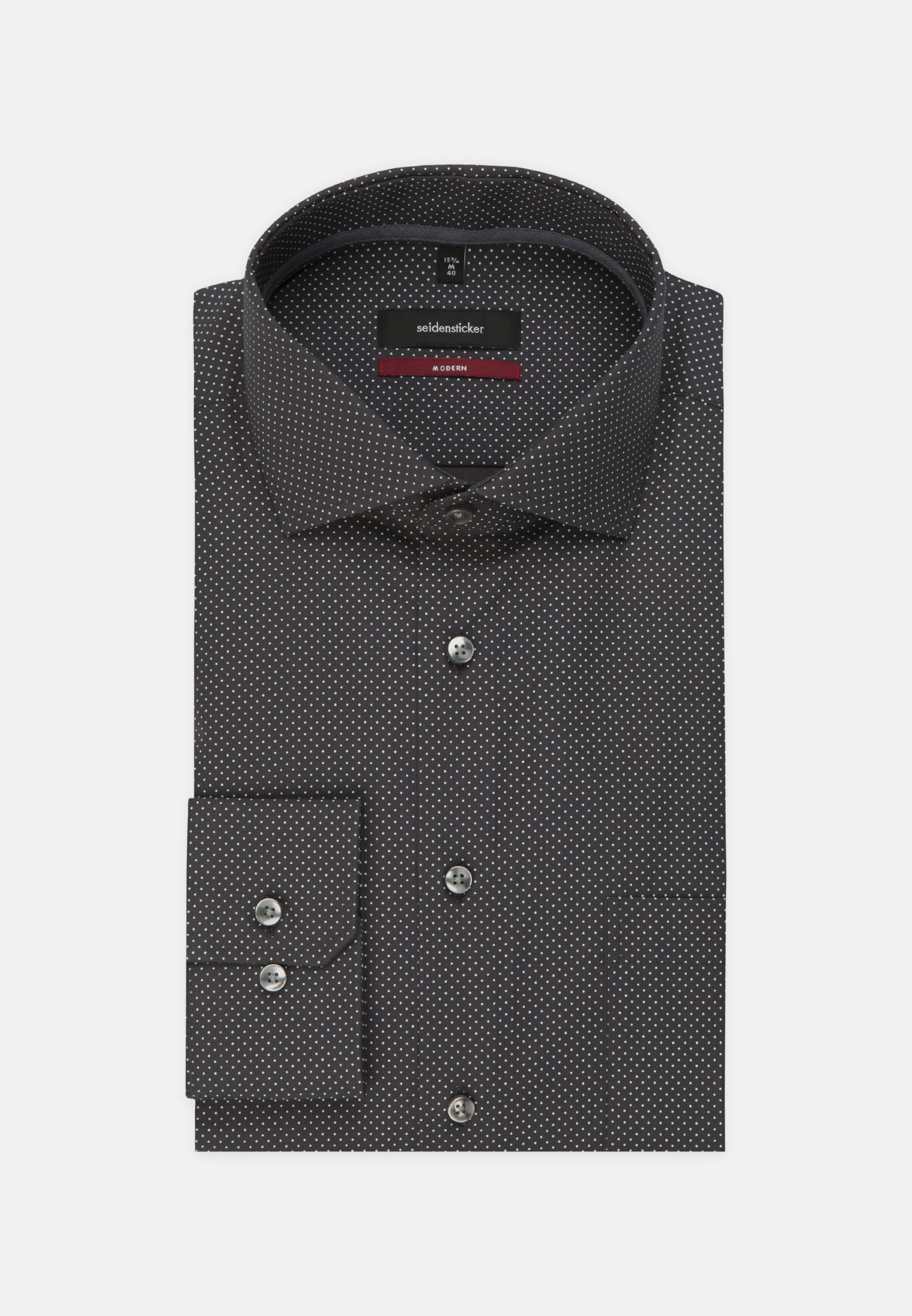 Bügelleichtes Popeline Business Hemd in Regular mit Kentkragen in Grau |  Seidensticker Onlineshop