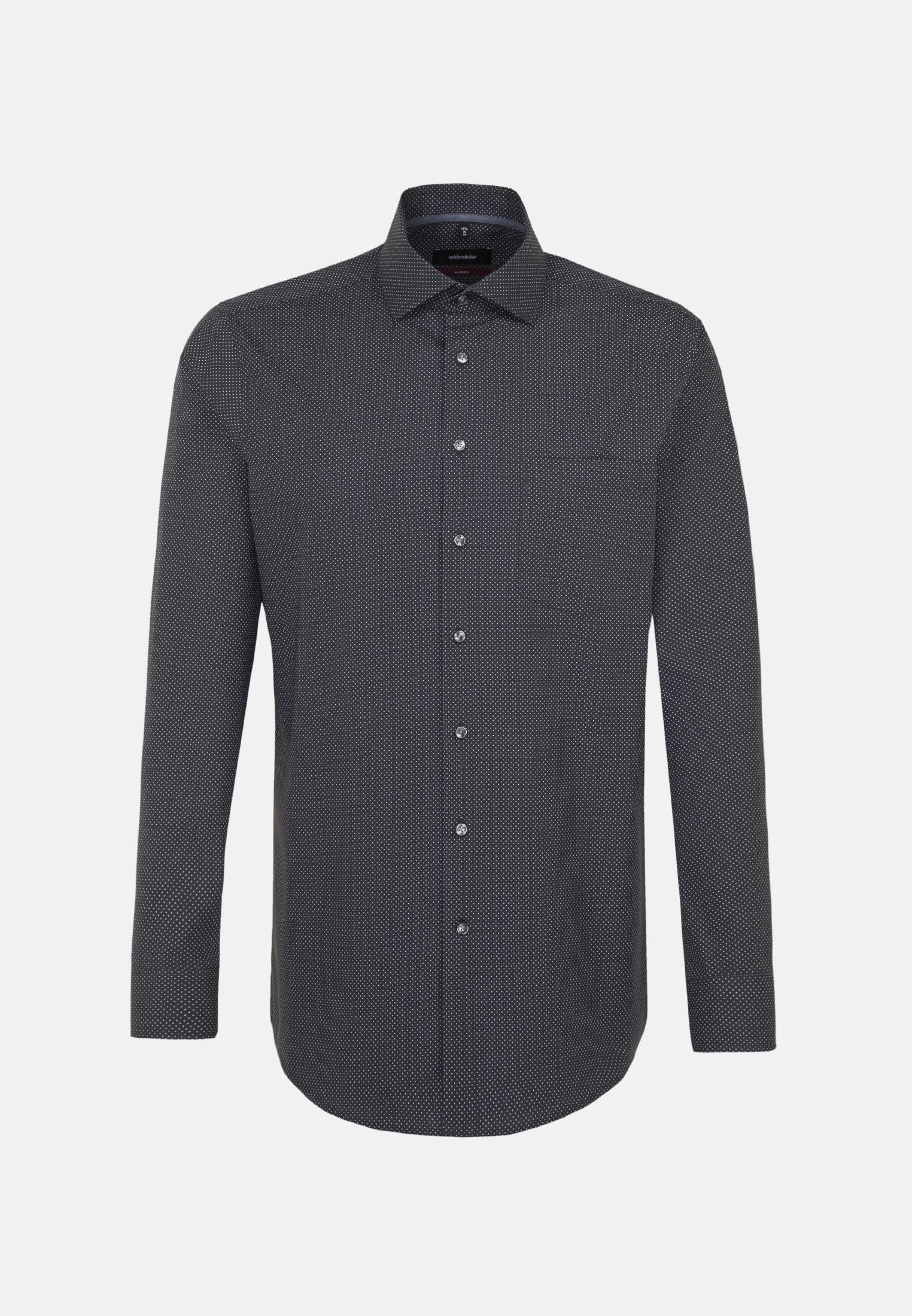 Easy-iron Poplin Business Shirt in Regular with Kent-Collar in Grey |  Seidensticker Onlineshop