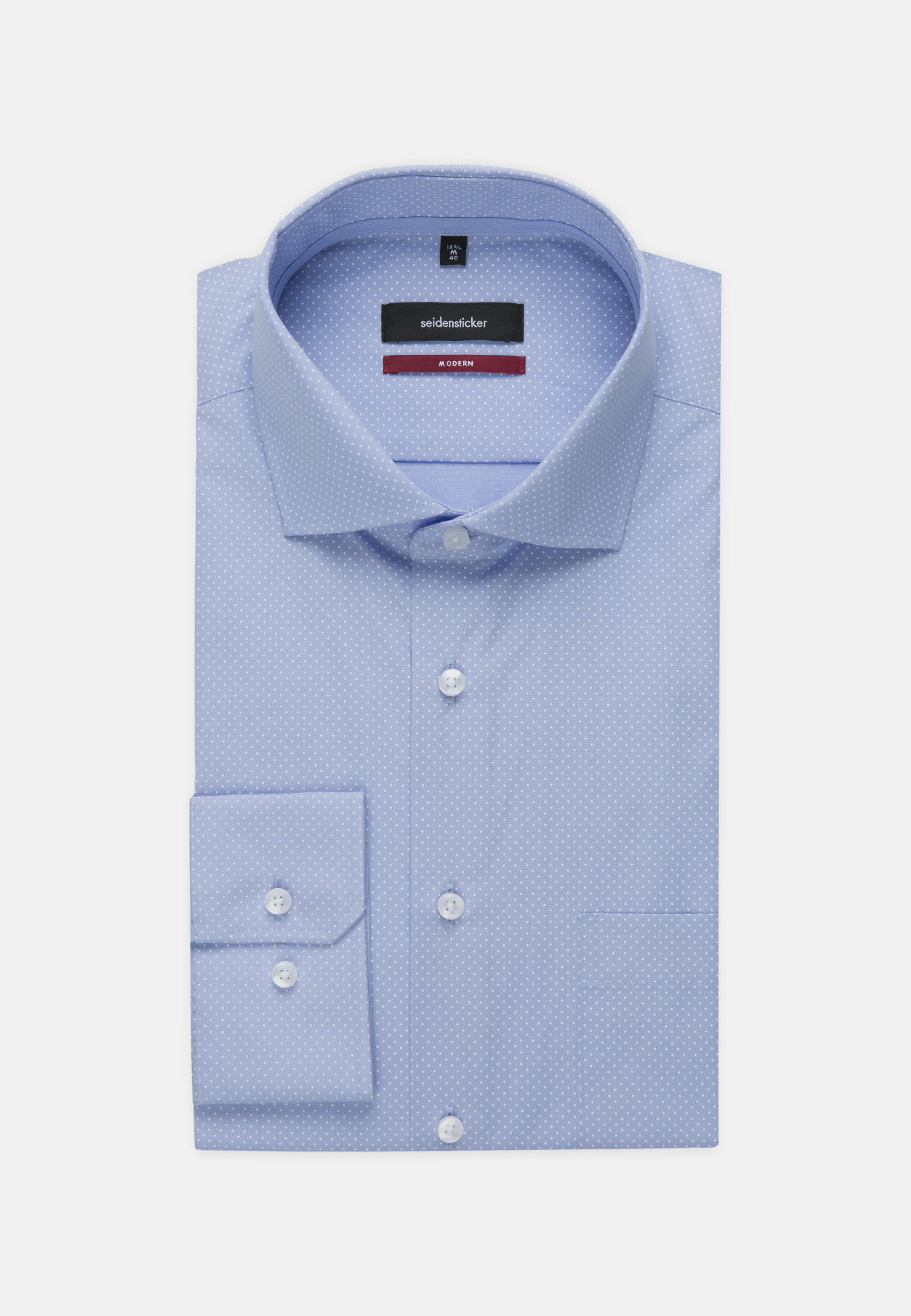 Easy-iron Poplin Business Shirt in Modern with Kent-Collar in Light blue |  Seidensticker Onlineshop
