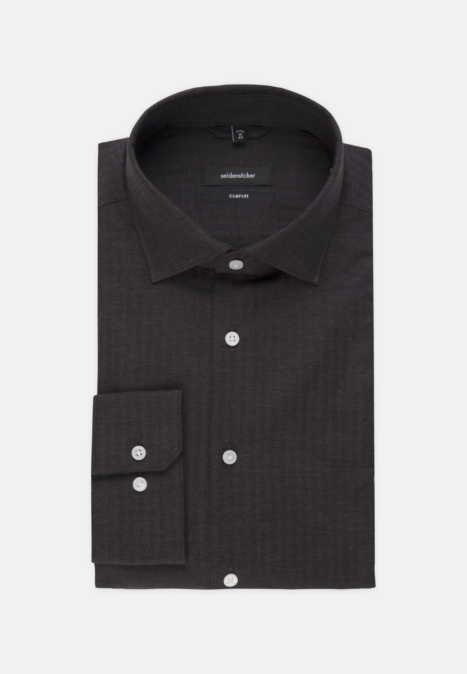 Easy-iron Structure Business Shirt in Comfort with Kent-Collar in Grey |  Seidensticker Onlineshop