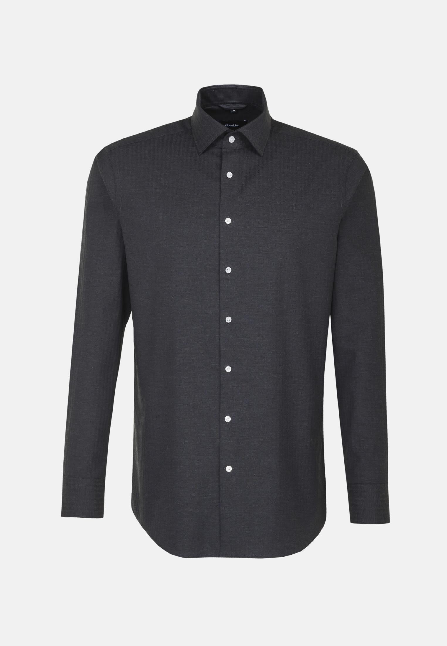 Easy-iron Structure Business Shirt in Comfort with Kent-Collar in schwarz |  Seidensticker Onlineshop