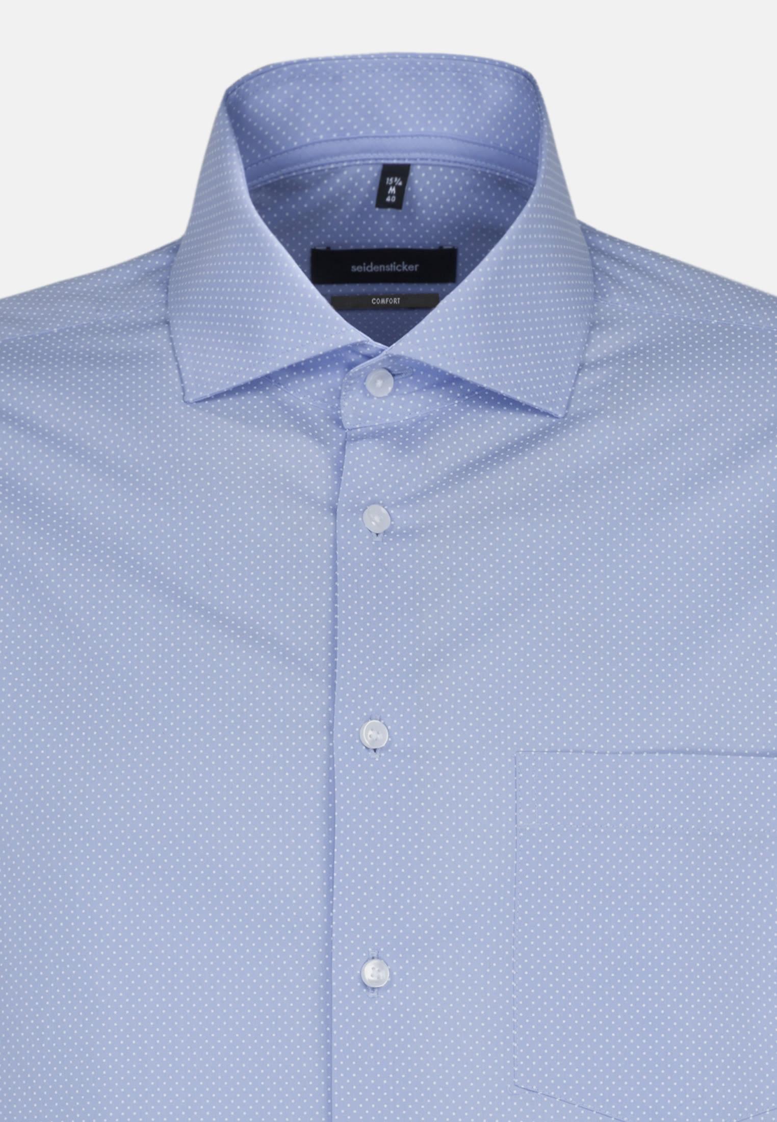 Easy-iron Poplin Business Shirt in Comfort with Kent-Collar in Light blue |  Seidensticker Onlineshop