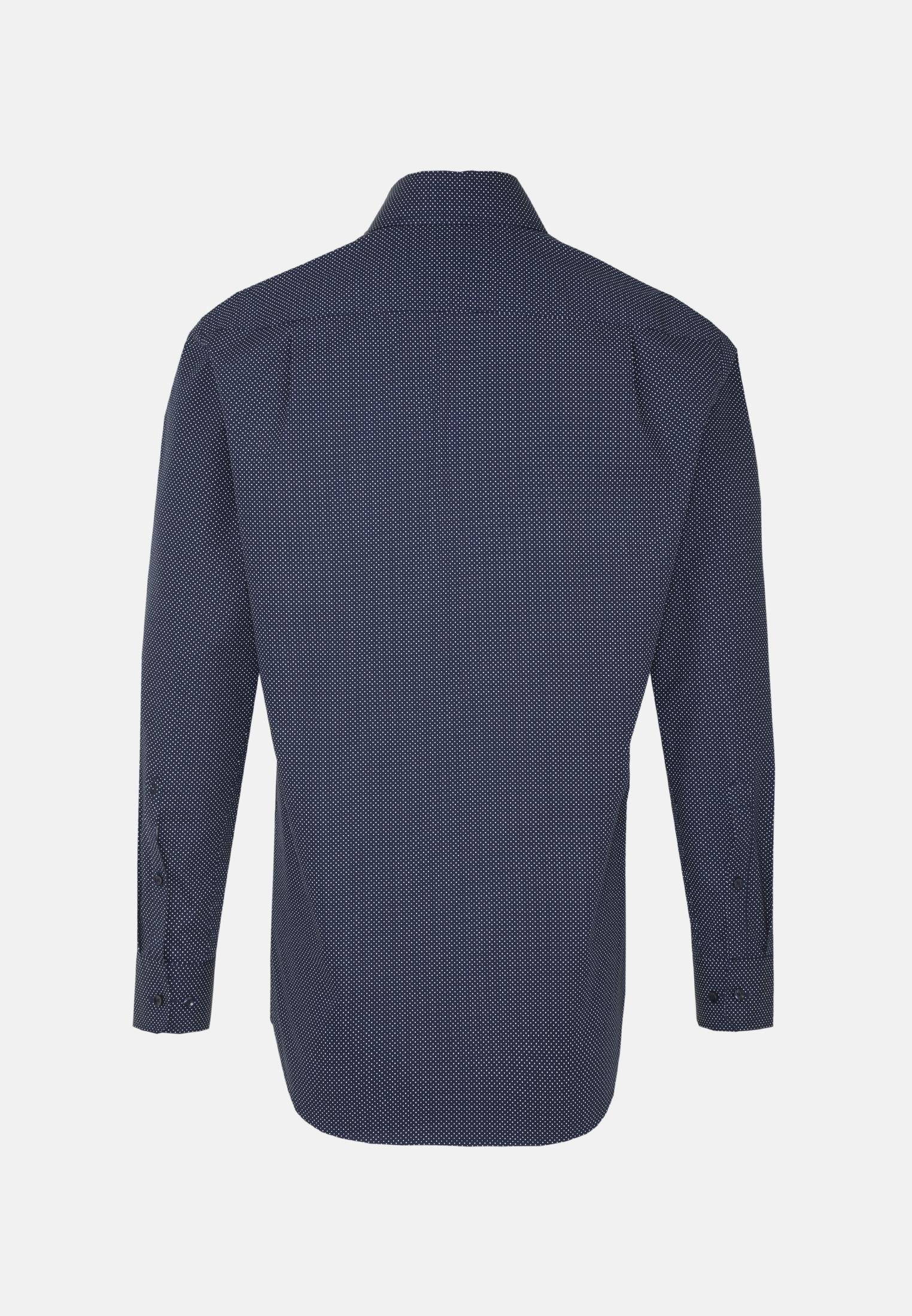 Easy-iron Poplin Business Shirt in Comfort with Kent-Collar in Dark blue |  Seidensticker Onlineshop
