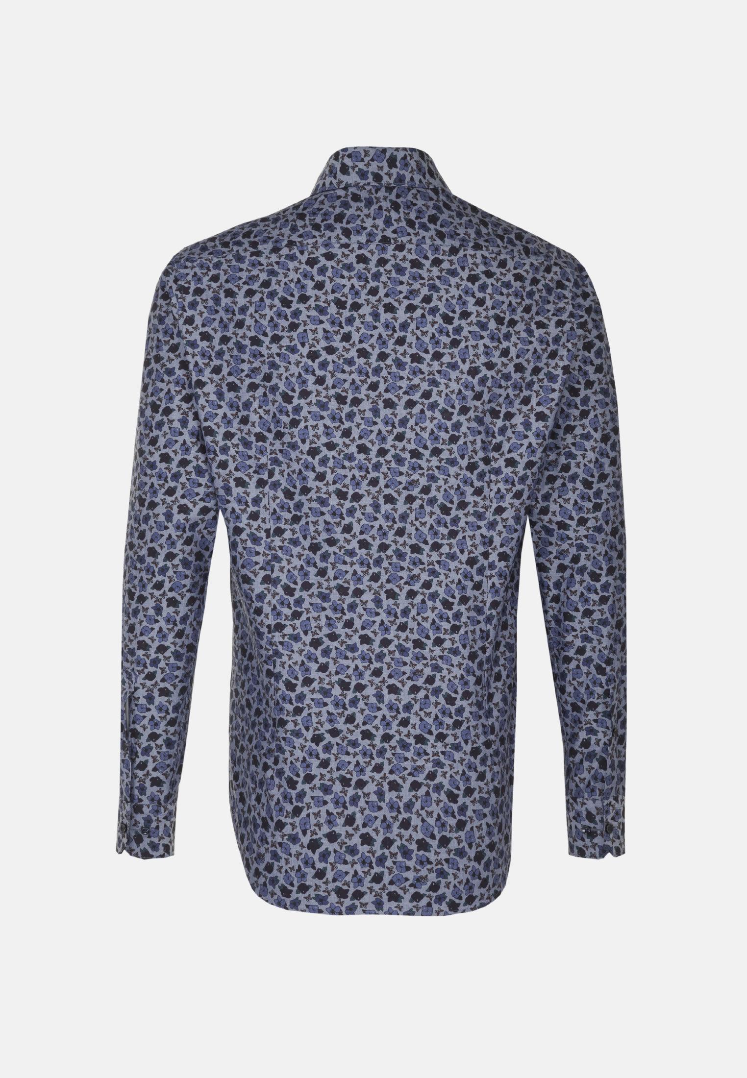 Bügelleichtes Popeline Business Hemd in Shaped mit Kentkragen in Dunkelblau |  Seidensticker Onlineshop