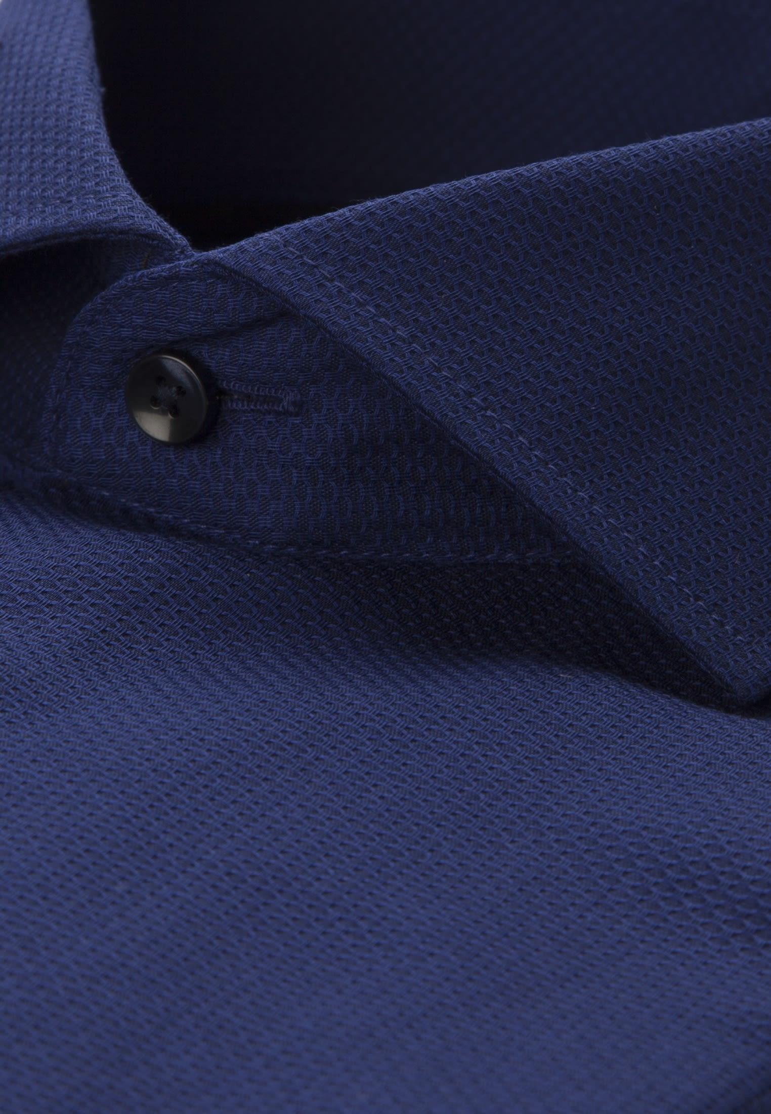 Easy-iron Structure Business Shirt in Modern with Kent-Collar in Medium blue |  Seidensticker Onlineshop