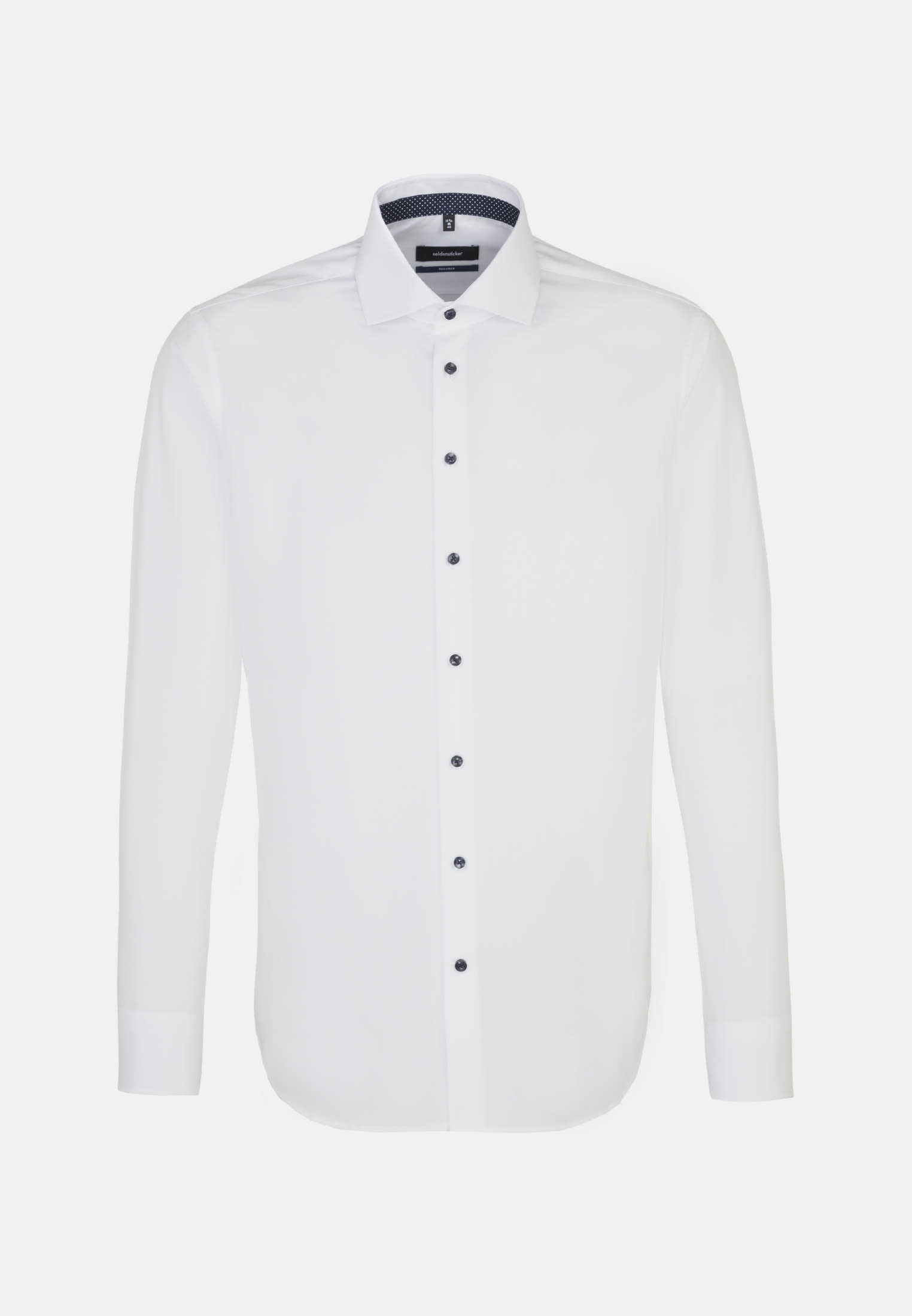 Non-iron Fil a fil Business Shirt in Tailored with Kent-Collar and extra long arm in weiß |  Seidensticker Onlineshop