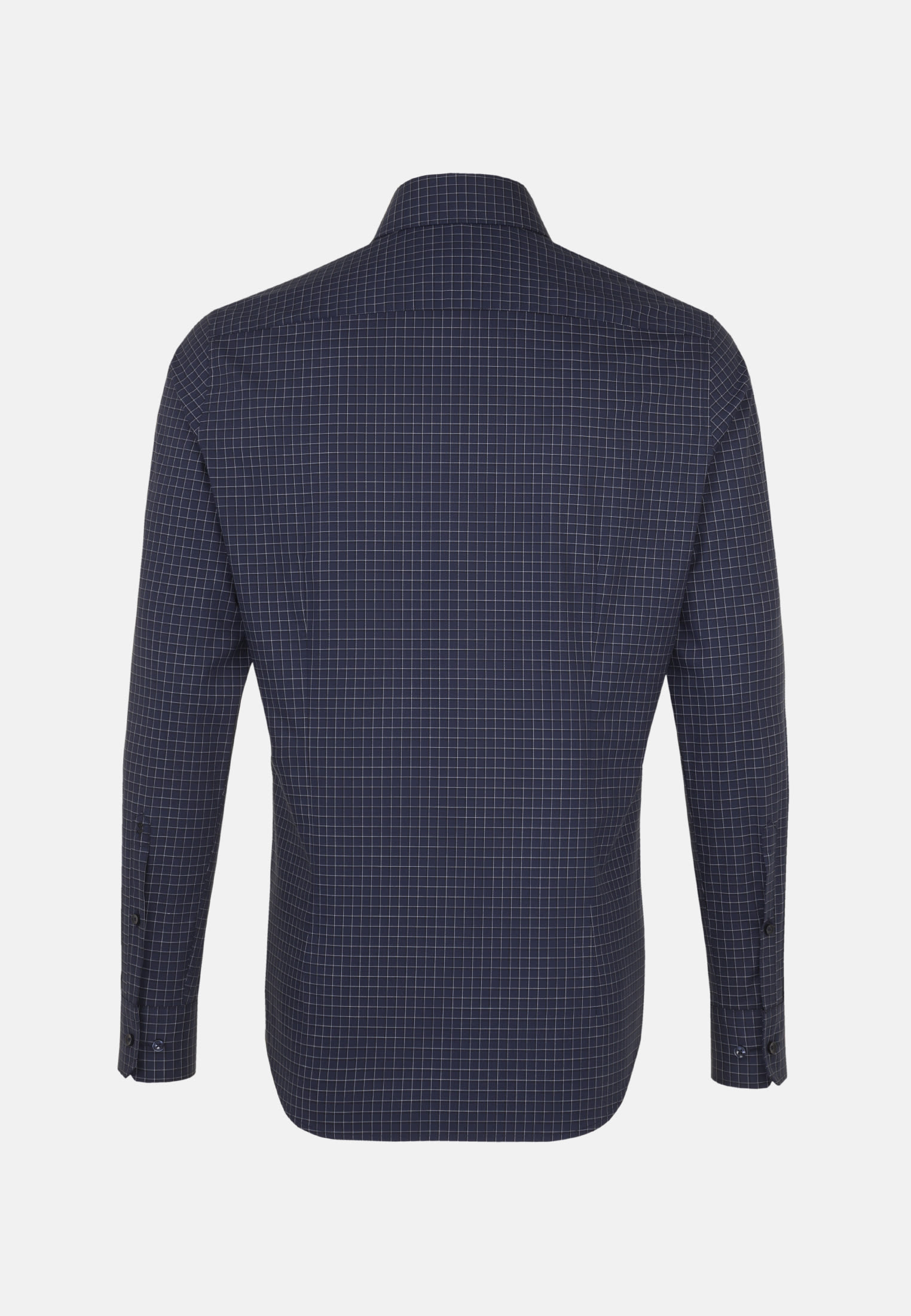 Non-iron Poplin Business Shirt in Tailored with Kent-Collar in Dark blue |  Seidensticker Onlineshop