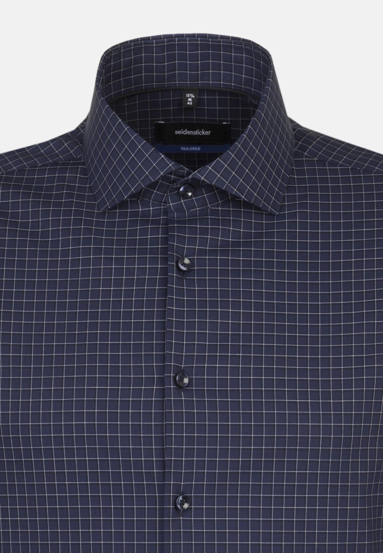 Non-iron Poplin Business Shirt in Tailored with Kent-Collar in blau |  Seidensticker Onlineshop