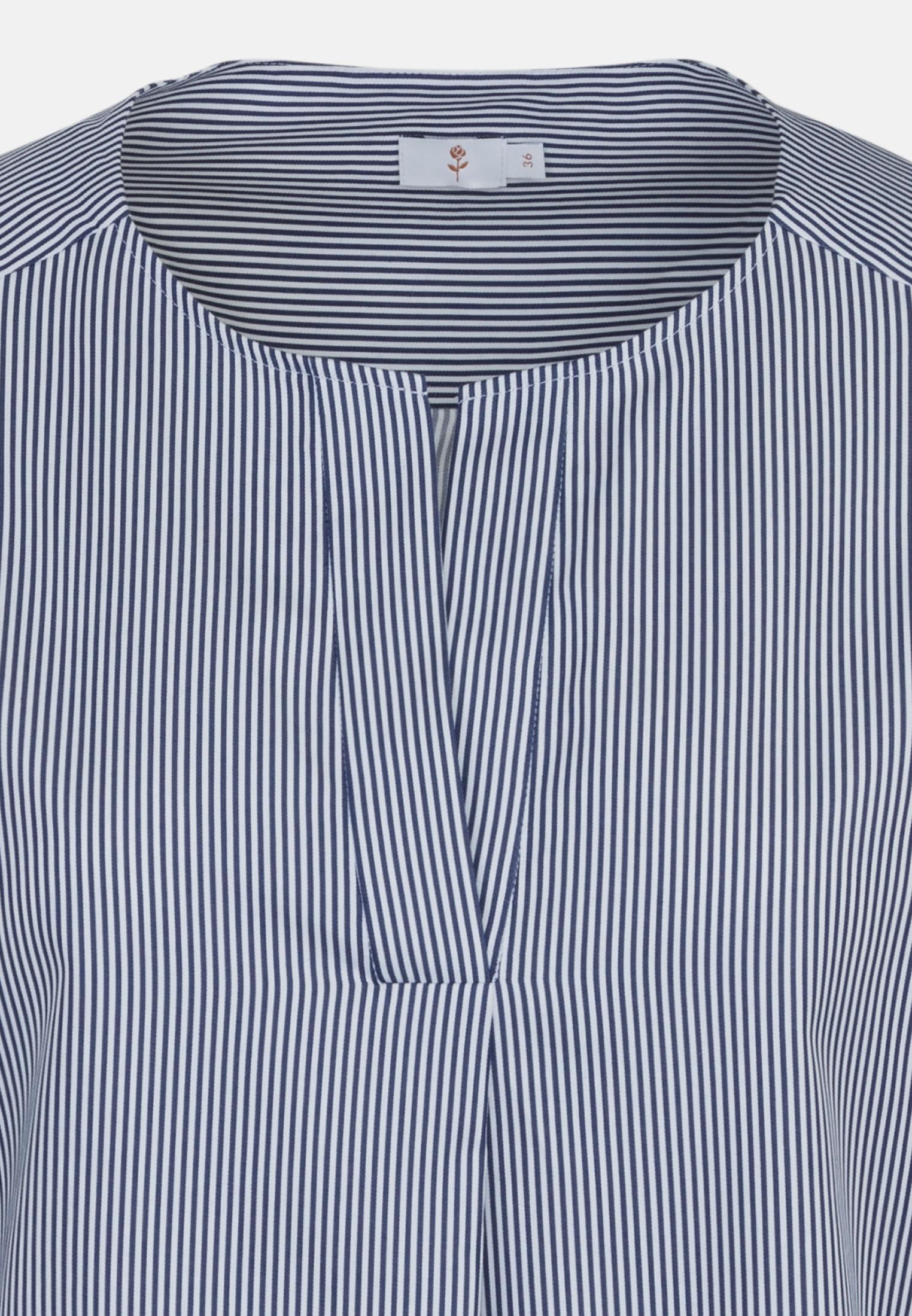 3/4 Arm Popeline Shirtbluse aus 100% Baumwolle in Mittelblau |  Seidensticker Onlineshop
