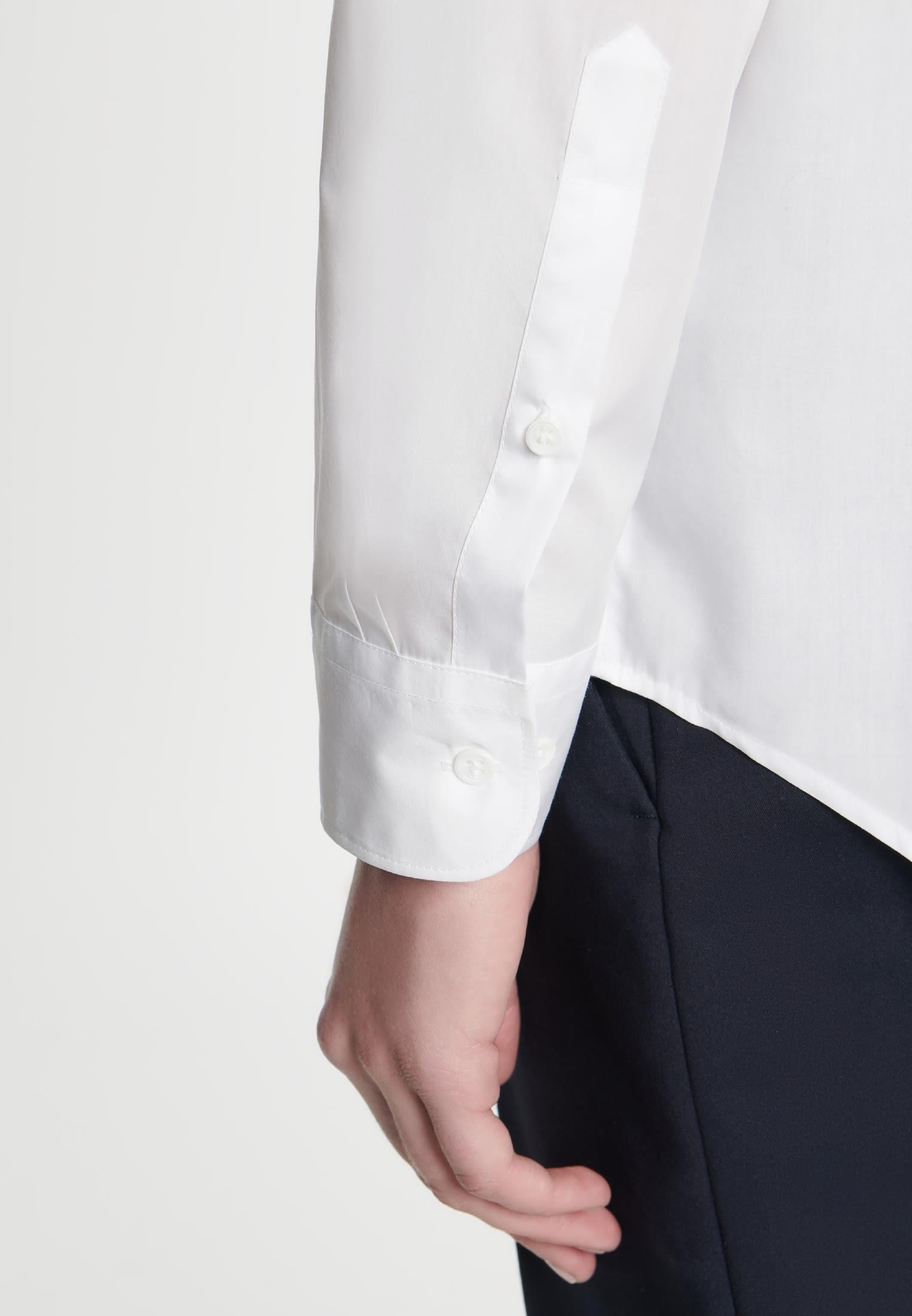 Poplin Shirt Blouse made of 100% Cotton in weiß    Seidensticker Onlineshop