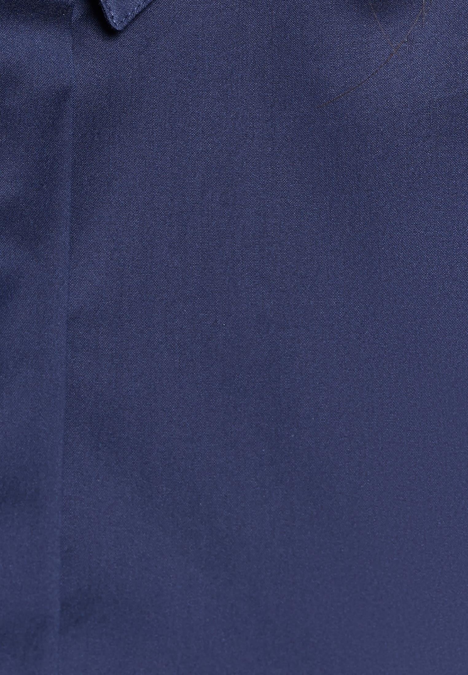 Ärmellose Popeline Hemdbluse aus 75% Baumwolle 20% Polyamid/Nylon 5% Elastan in Dunkelblau |  Seidensticker Onlineshop