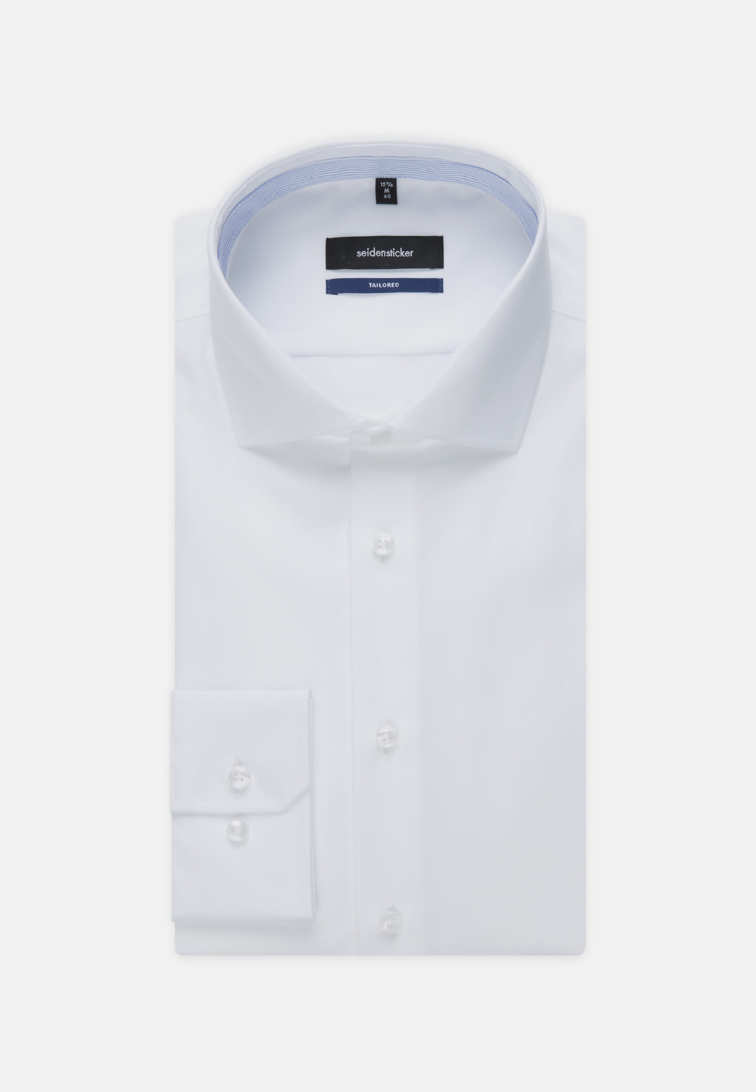 Non-iron Chambray Business Shirt in Tailored with Kent-Collar in White |  Seidensticker Onlineshop