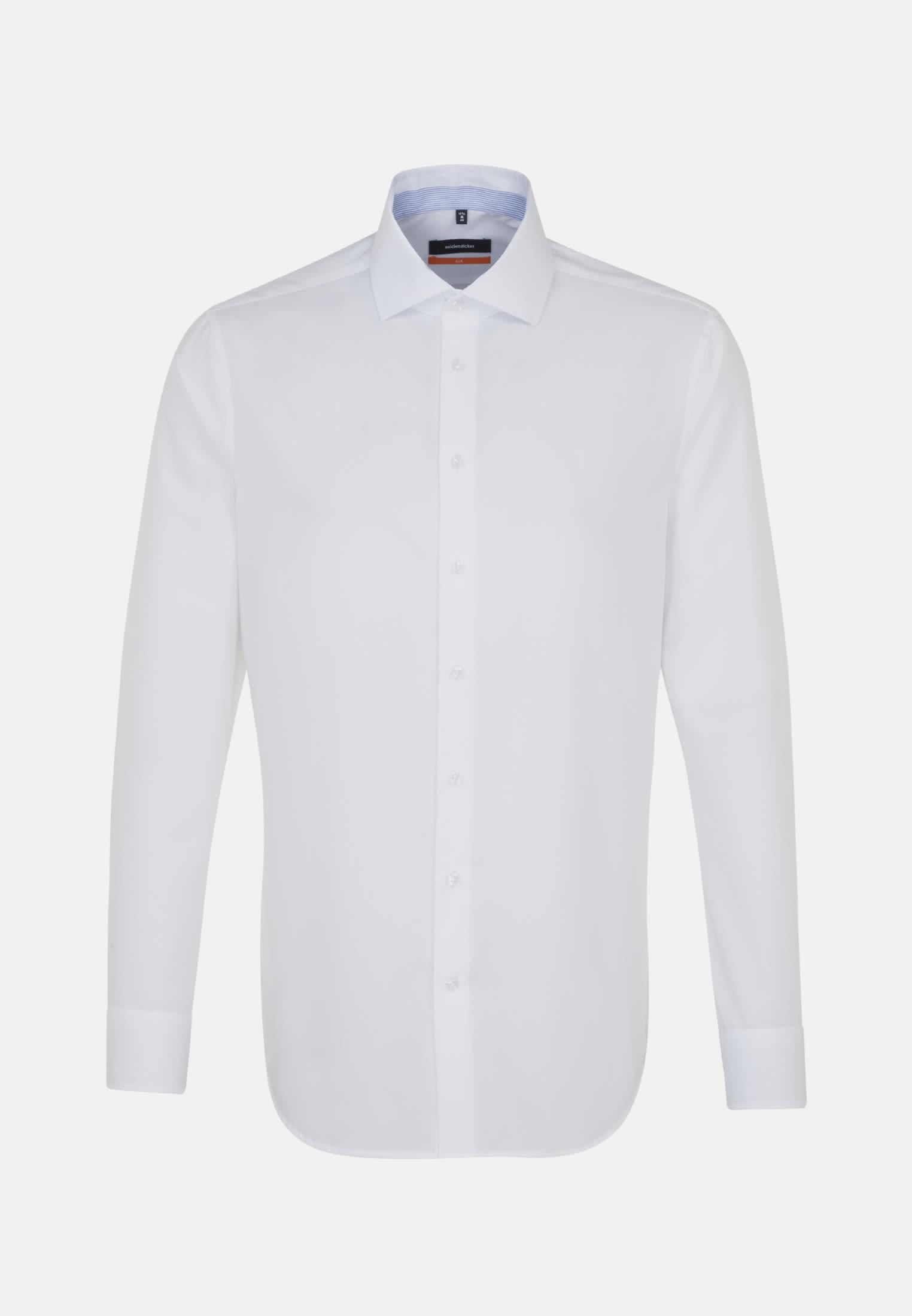 Non-iron Chambray Business Shirt in Slim with Kent-Collar in weiß |  Seidensticker Onlineshop