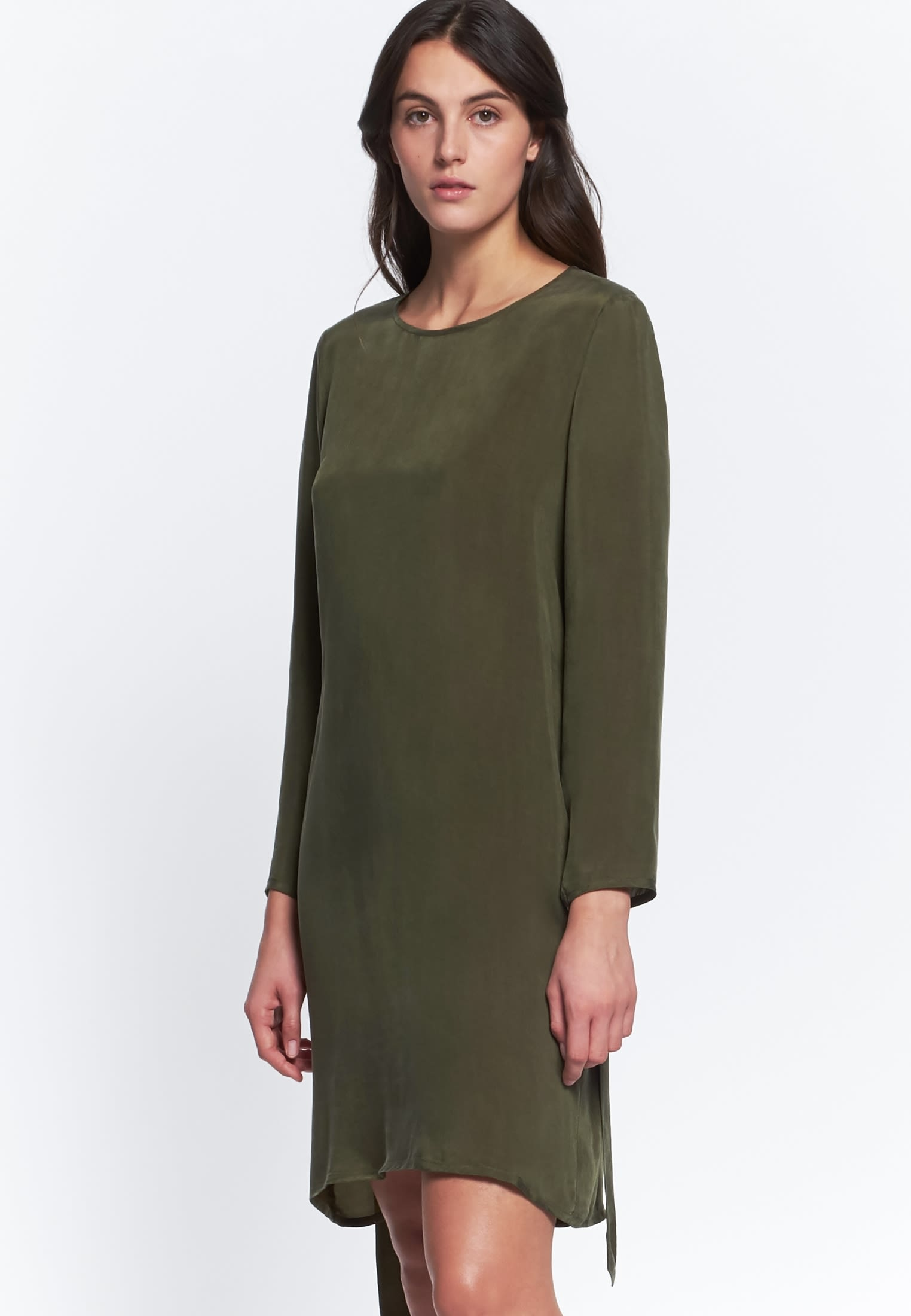 Midi Kleid aus Rayonmischung in Grün |  Seidensticker Onlineshop