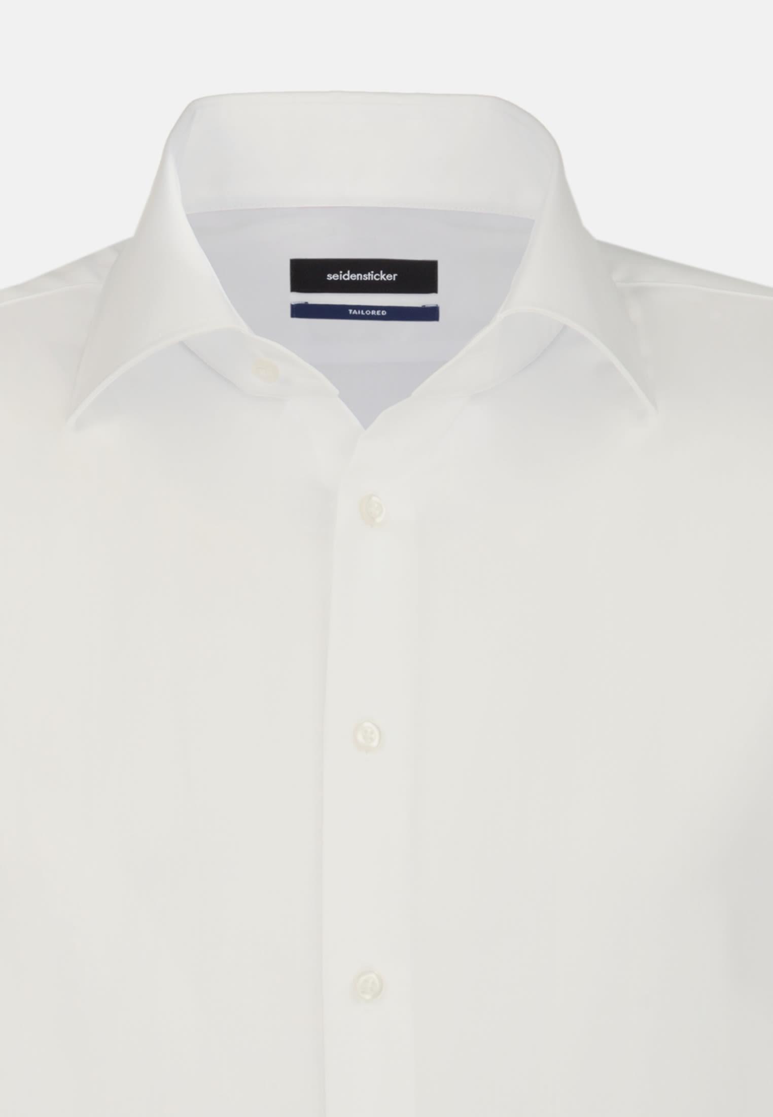 Non-iron Poplin Business Shirt in Tailored with Kent-Collar in Ecru |  Seidensticker Onlineshop