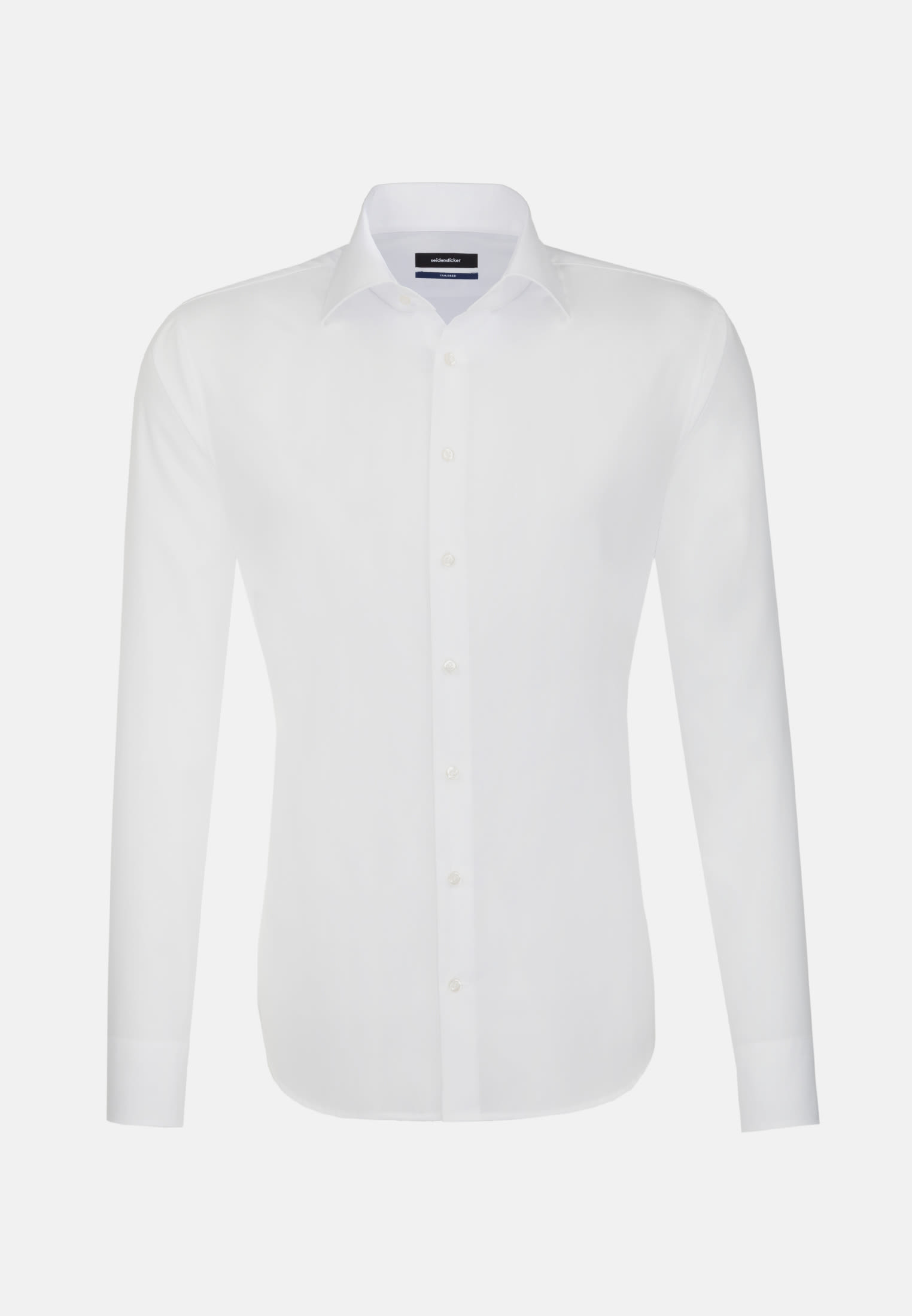 Non-iron Poplin Business Shirt in Tailored with Kent-Collar in White |  Seidensticker Onlineshop