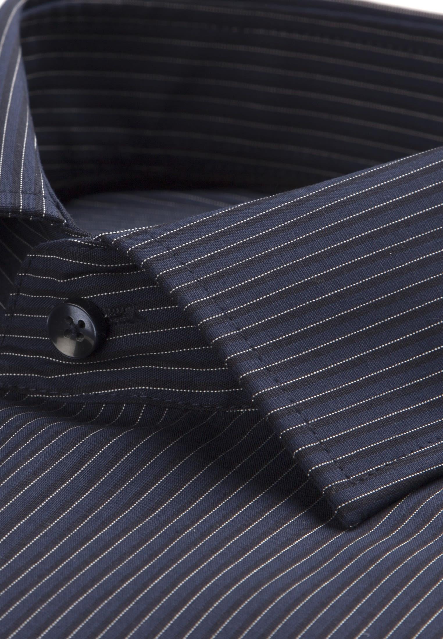 Non-iron Poplin Business Shirt in Modern with Kent-Collar in blau |  Seidensticker Onlineshop